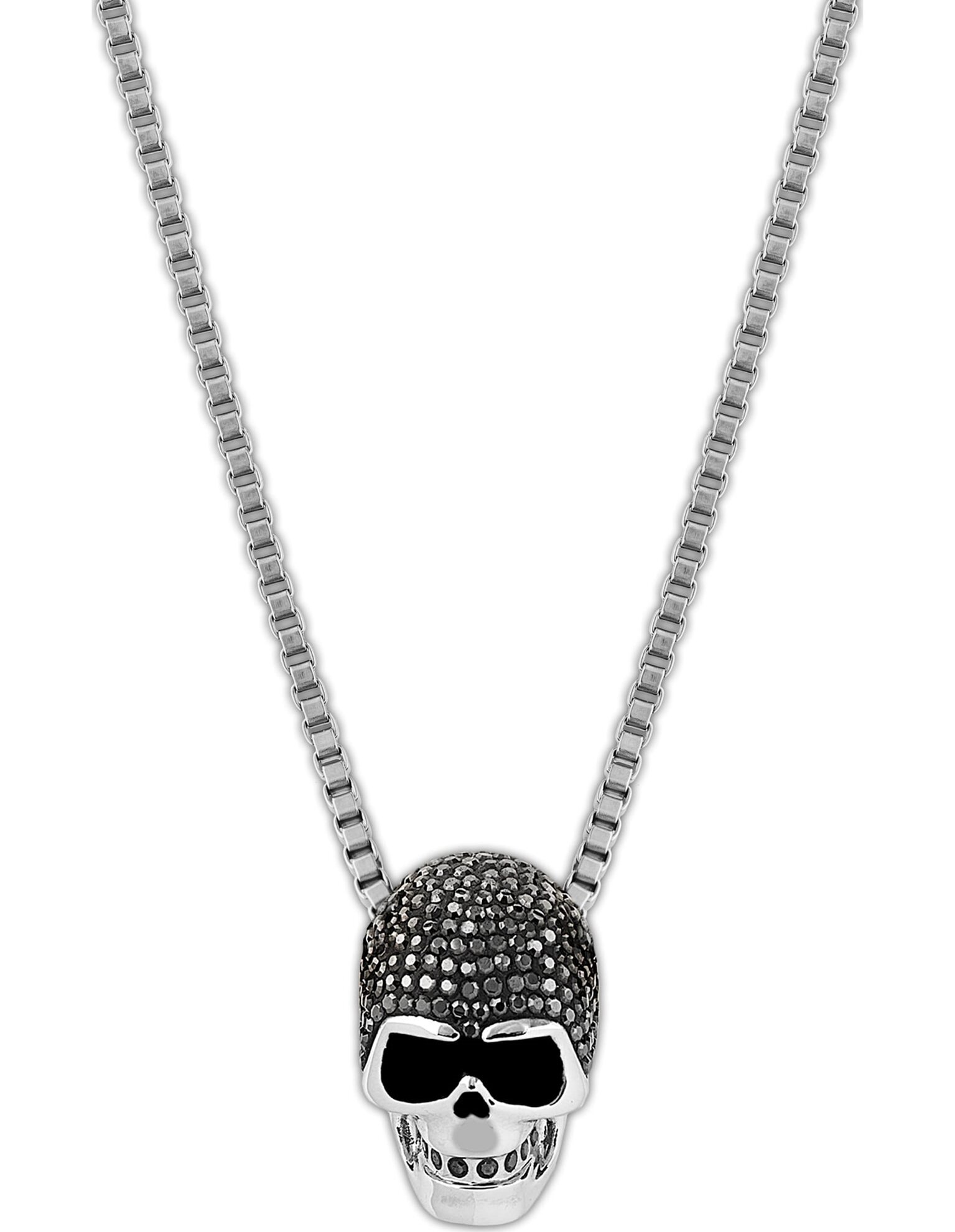 Picture of Taddeo Skull kolye, Siyah, Karışık metal