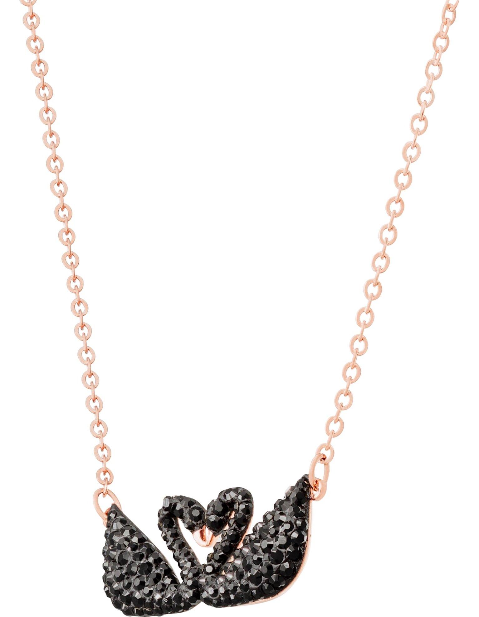 Picture of Swarovski Iconic Swan Kolye, Siyah, Pembe altın rengi kaplama