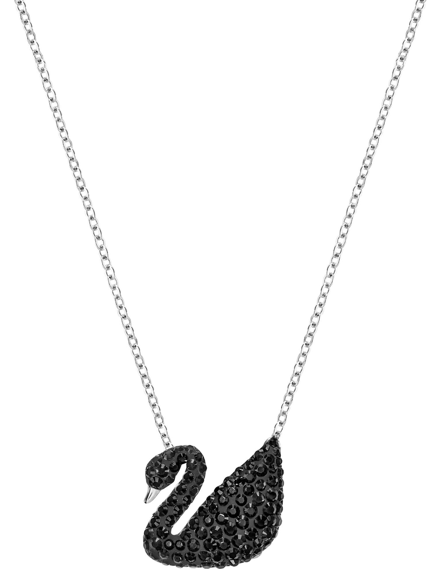 Picture of Swarovski Iconic Swan kolye, Siyah, Rodyum kaplama