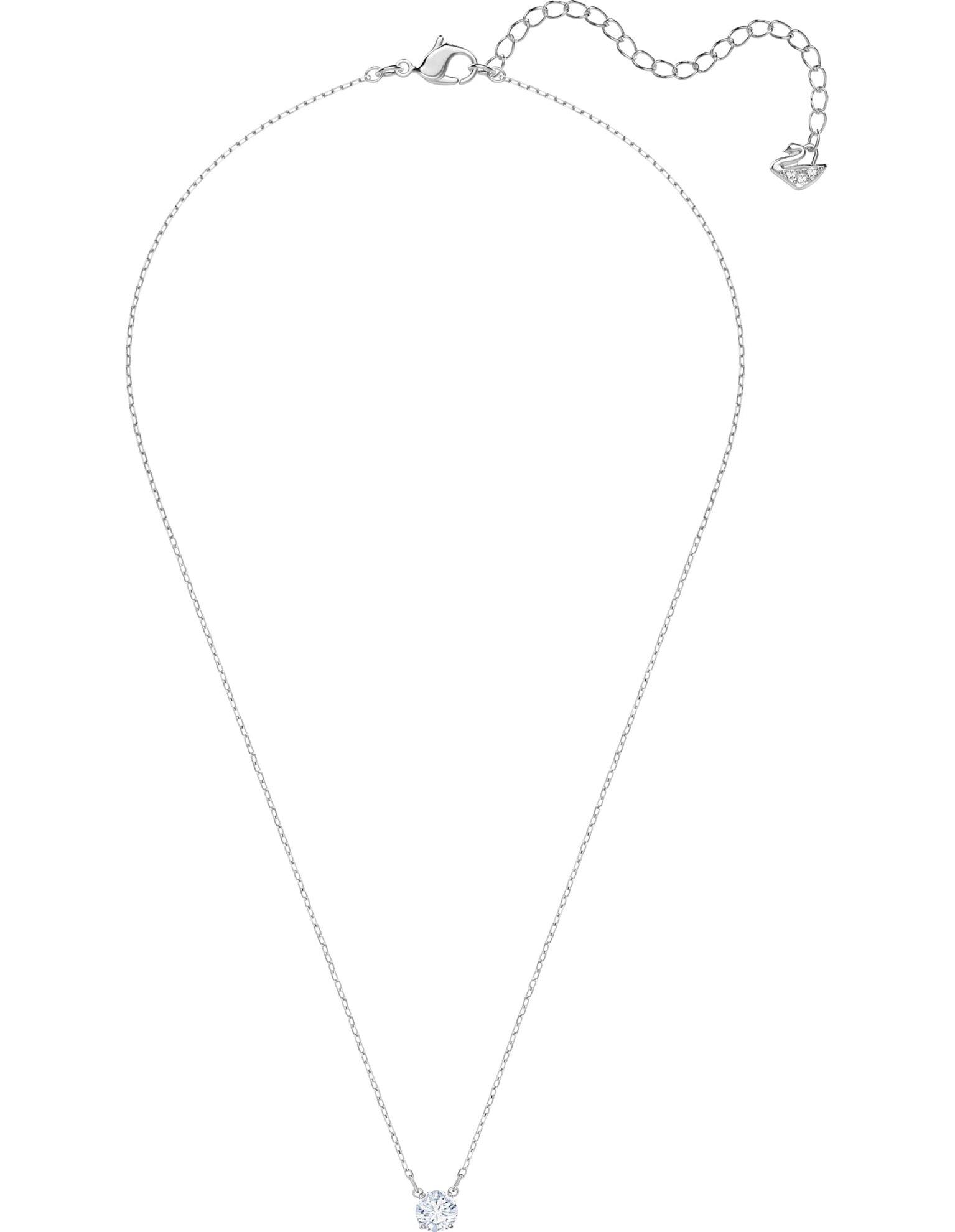 Picture of Attract Round Kolye, Beyaz, Rodyum kaplama