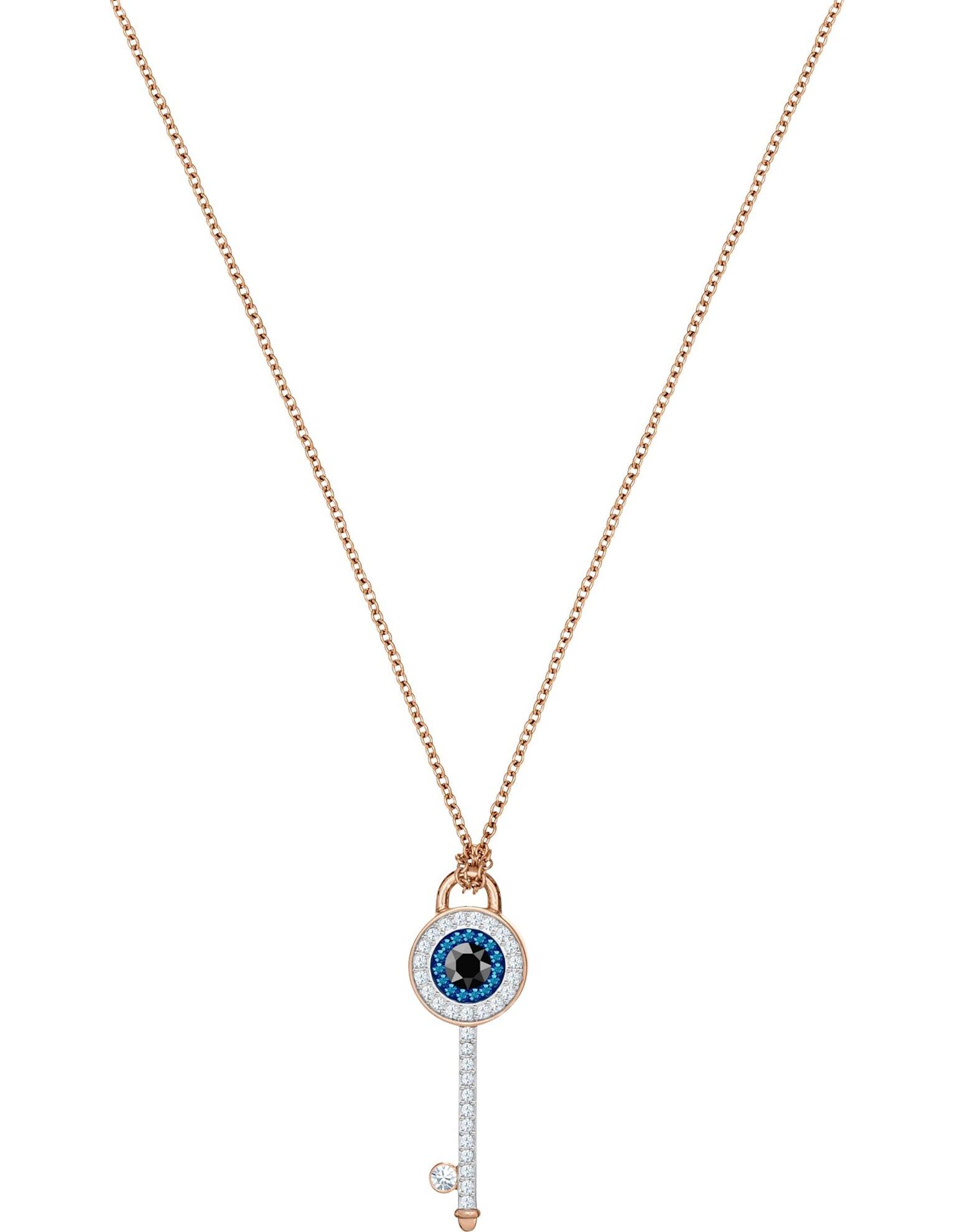 Picture of Swarovski Symbolic Evil Eye kolye, Cok Renkli, Pembe altın rengi kaplama