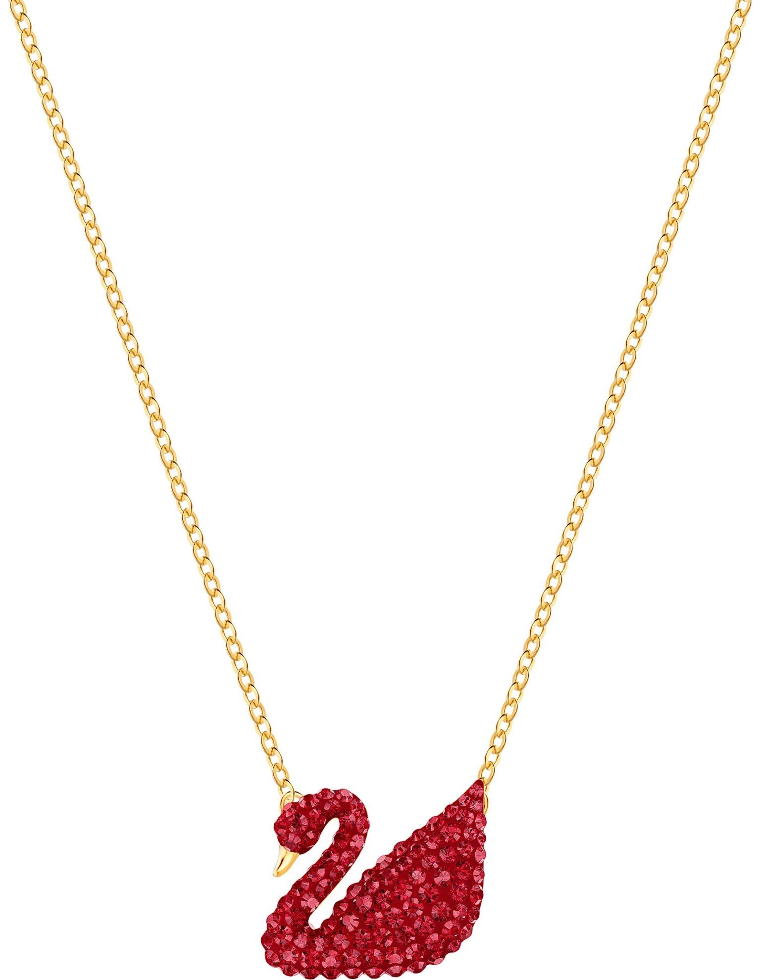 Picture of Iconic Swan kolye, Kırmızı, Altın rengi kaplama