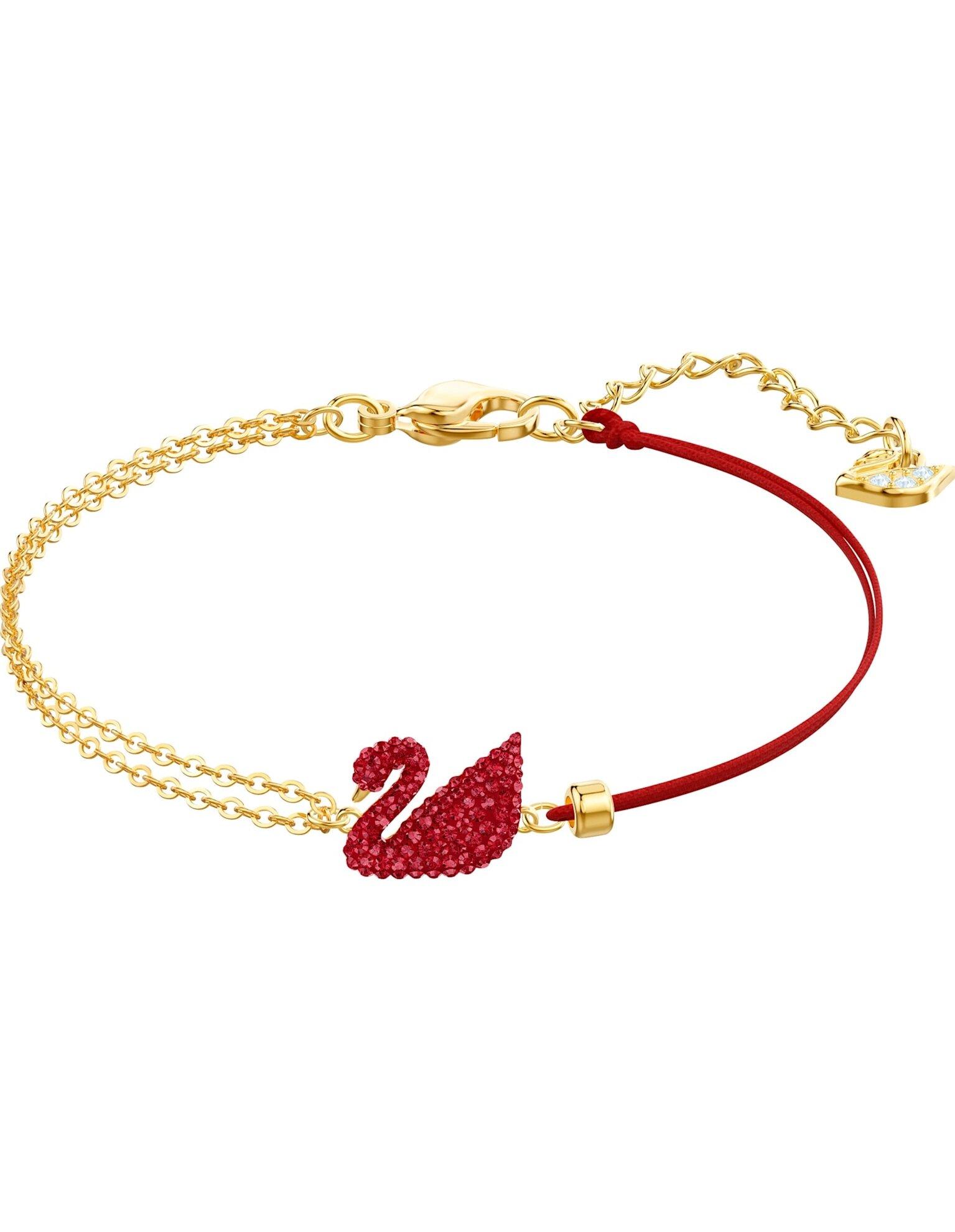 Picture of Iconic Swan Bileklik, Kırmızı, Altın rengi kaplama