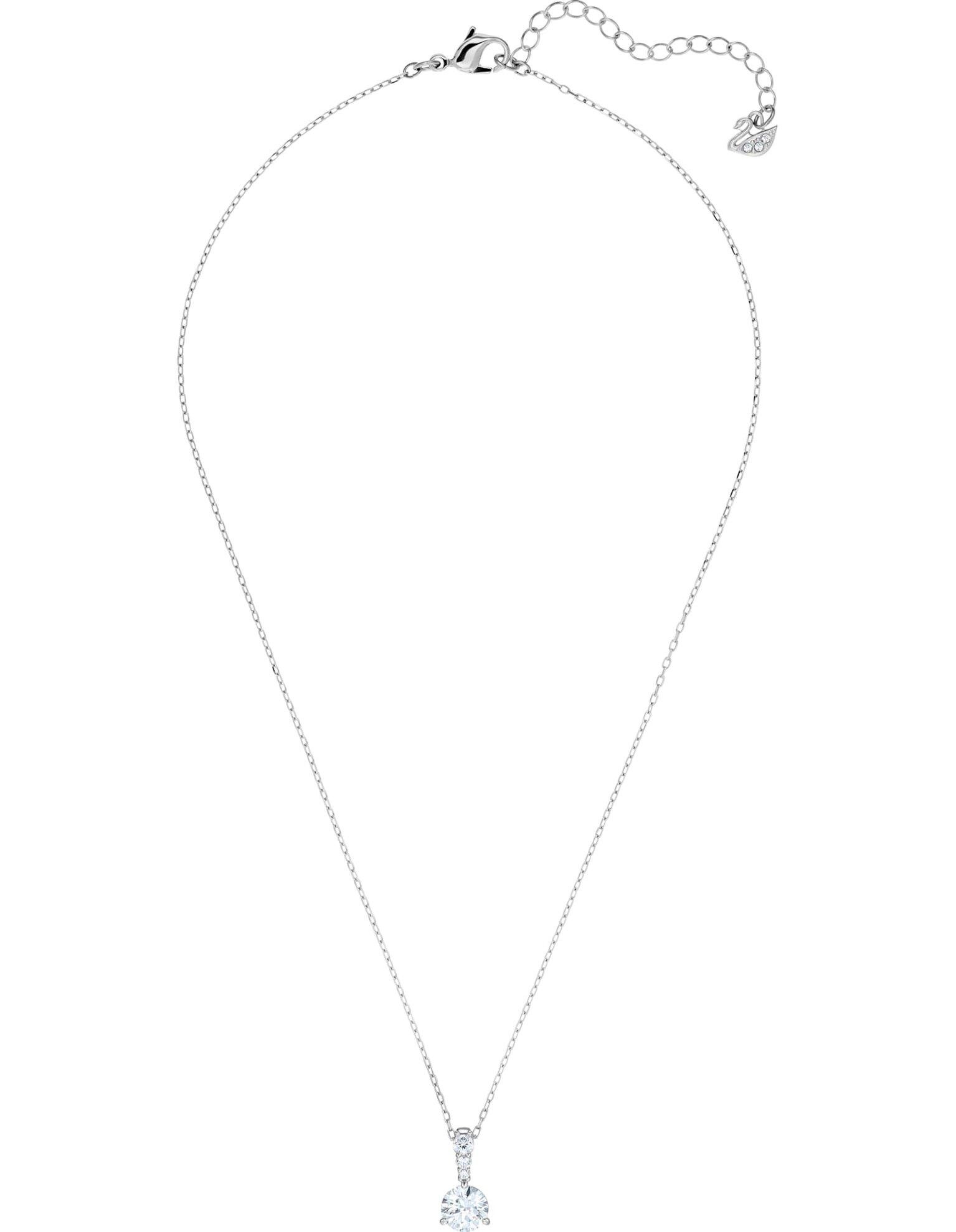 Picture of Solitaire kolye, Beyaz, Rodyum kaplama