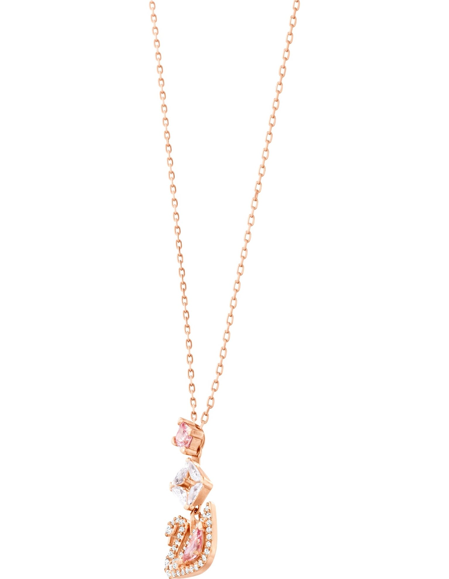 Picture of Dazzling Swan Y-Kolye, Cok Renkli, Pembe altın rengi kaplama