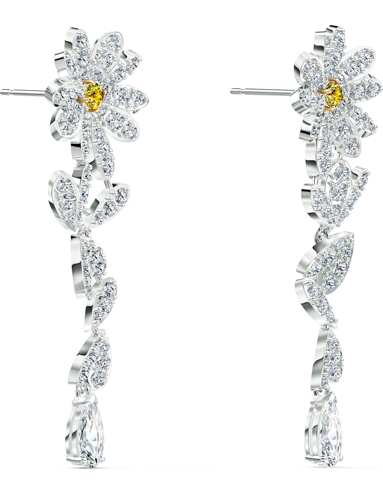 Picture of Eternal Flower İğneli Küpeler, Sarı, Karışık metal