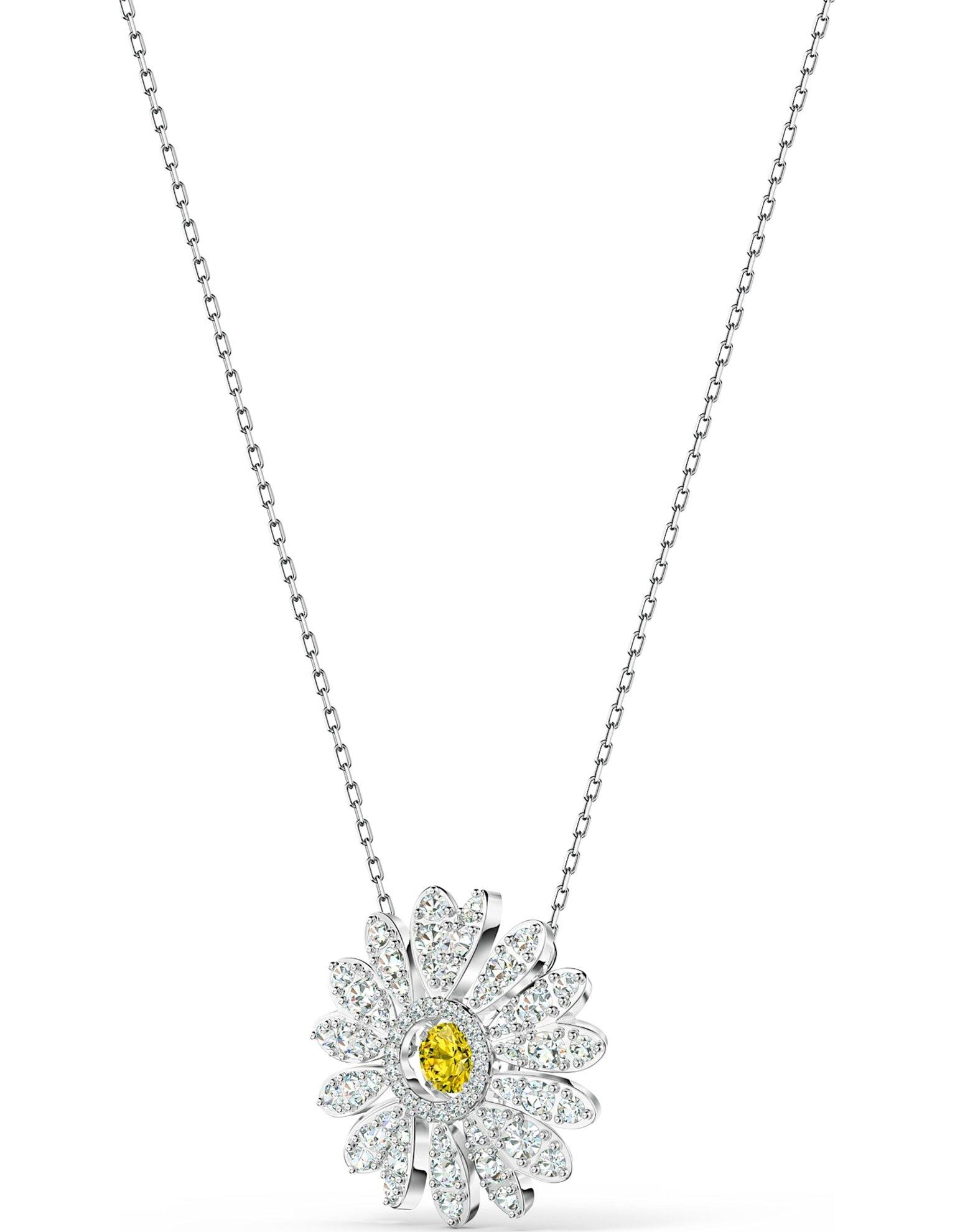Picture of Eternal Flower kolye, Sarı, Rodyum kaplama