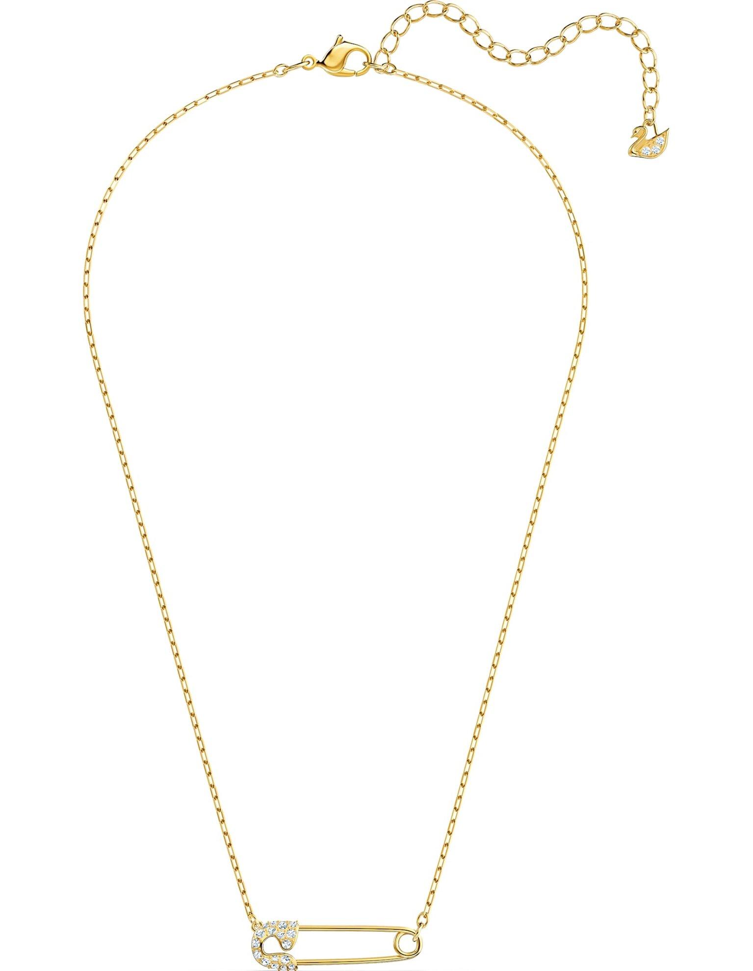 Picture of So Cool Pin Kolye, Beyaz, Altın rengi kaplama