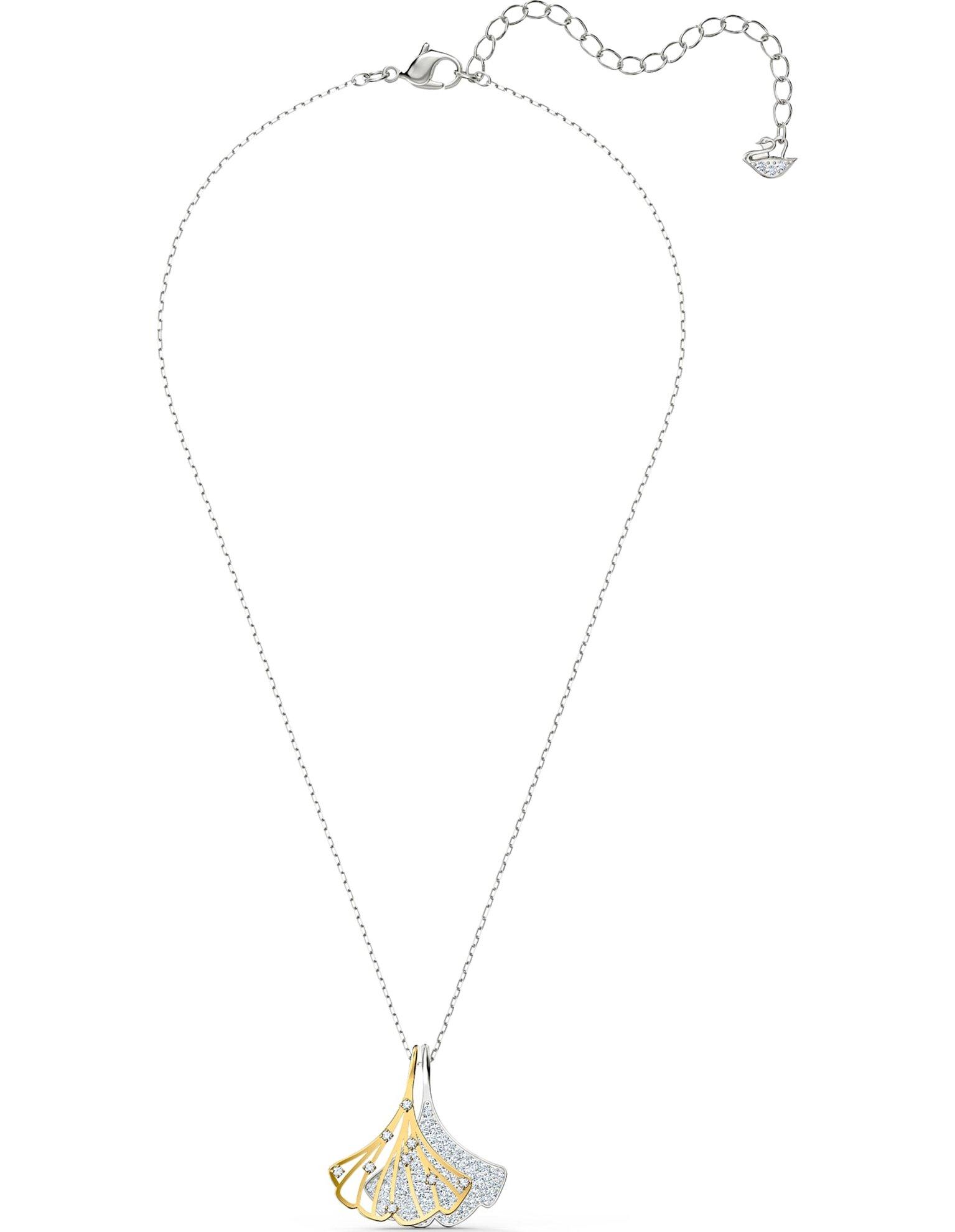 Picture of Stunning Ginko kolye, Beyaz, Karışık metal