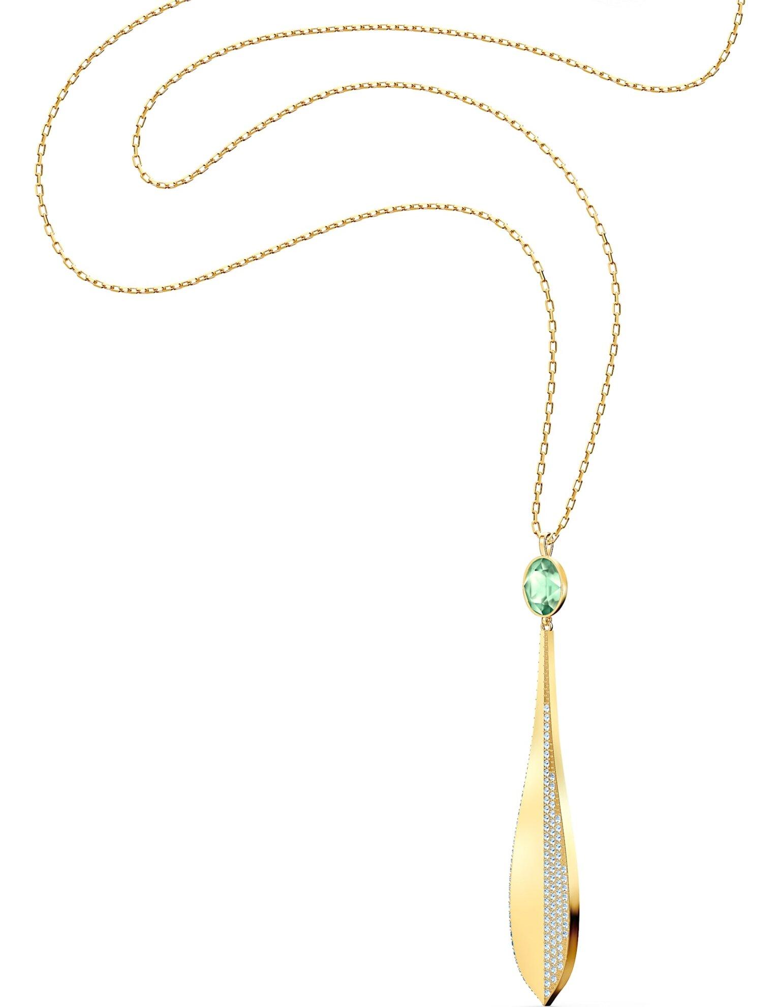 Picture of Stunning Olive kolye, Yeşil, Pembe altın rengi kaplama