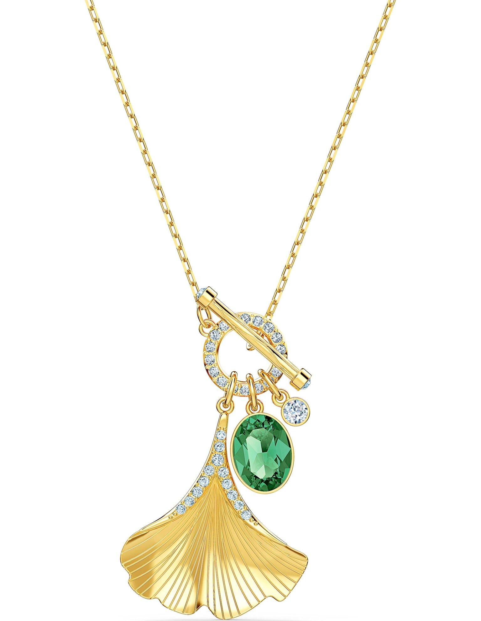 Picture of Stunning Ginko Kolye, Yeşil, Altın rengi kaplama