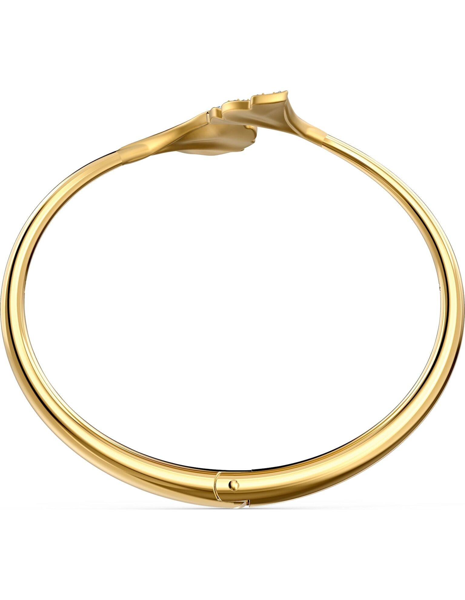 Picture of Stunning Ginko Bileklik, Beyaz, Altın rengi kaplama