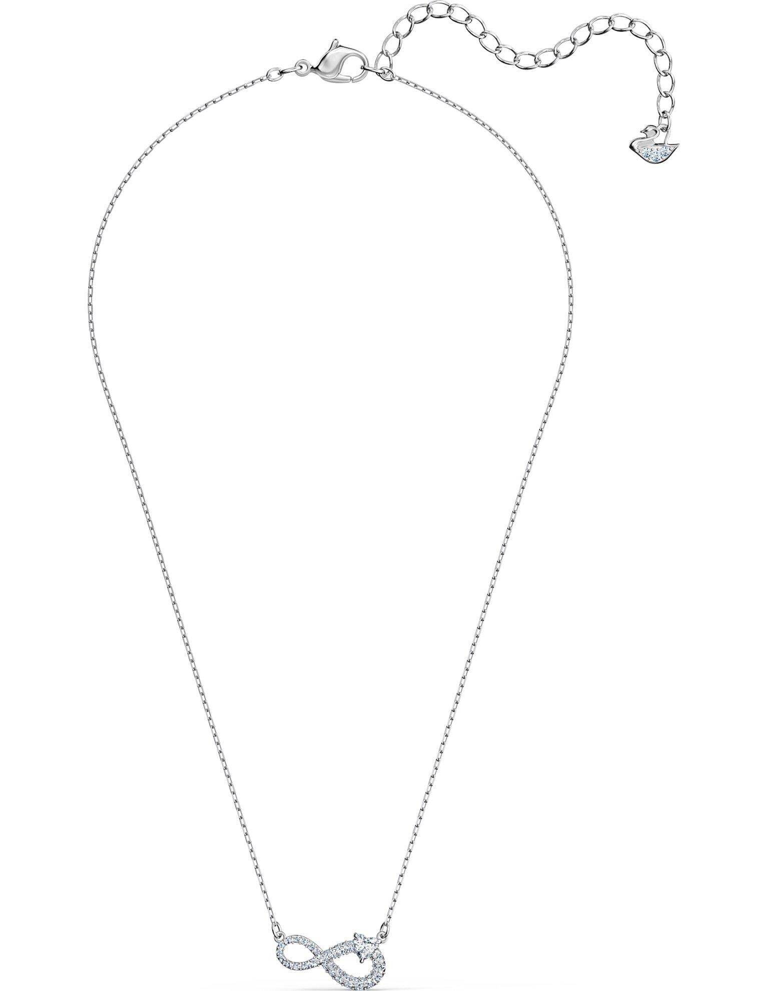 Picture of Swarovski Infinity Kolye, Beyaz, Rodyum kaplama