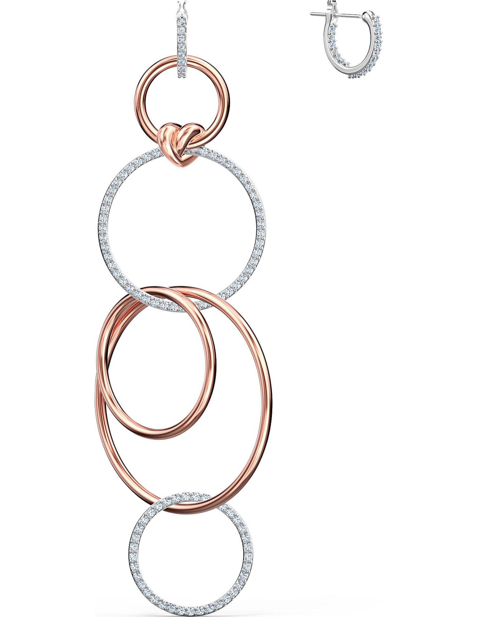 Picture of Lifelong Heart İğneli Küpeler, Beyaz, Karışık metal