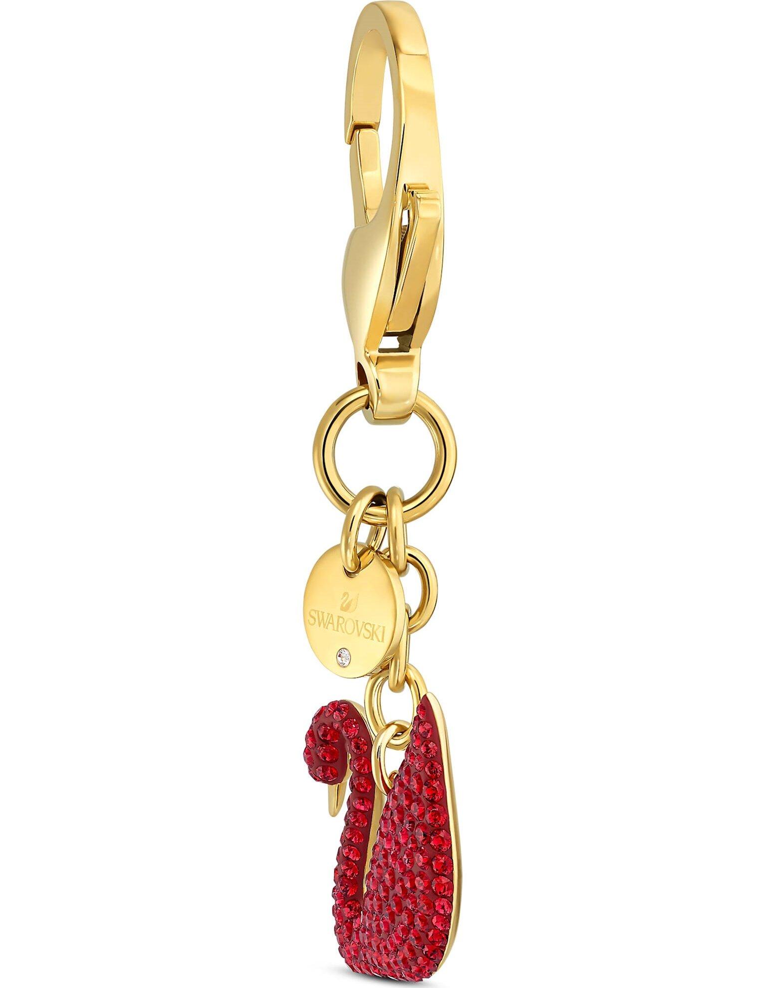 Picture of Swan Çanta Charm'ı, Kırmızı, Altın rengi kaplama