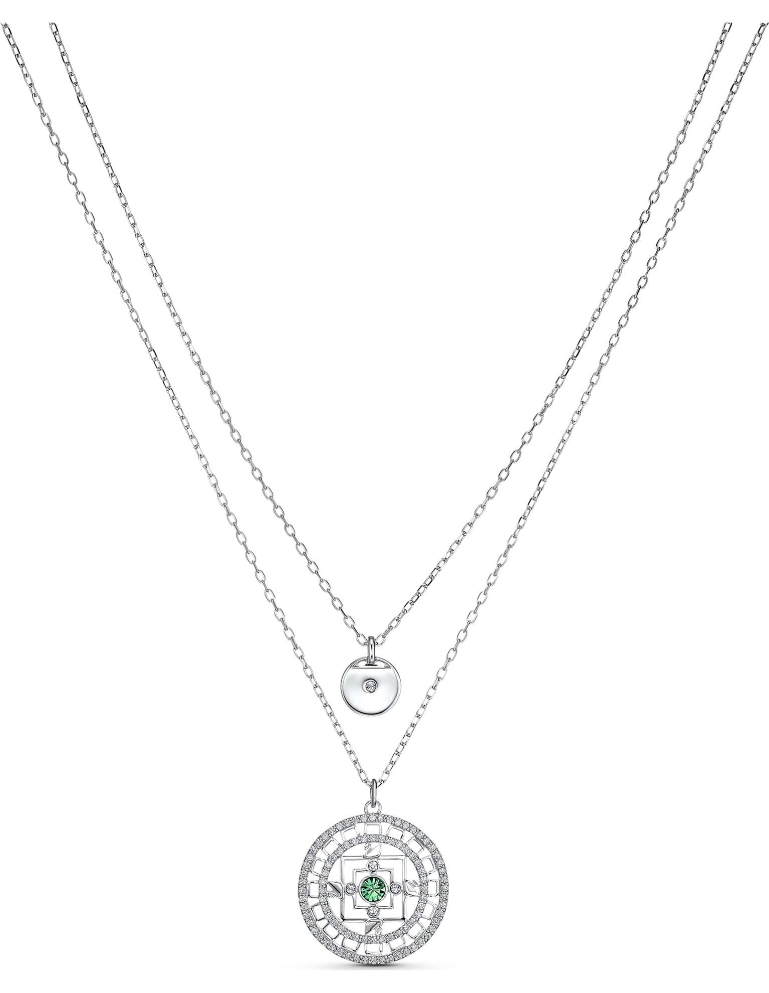 Picture of Swarovski Symbolic Mandala Kolye, Beyaz, Rodyum kaplama