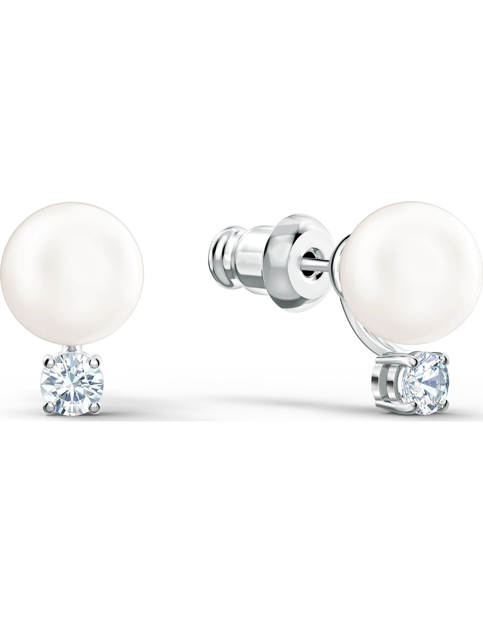 Picture of Treasure Pearl İğneli Küpeler, Beyaz, Rodyum kaplama