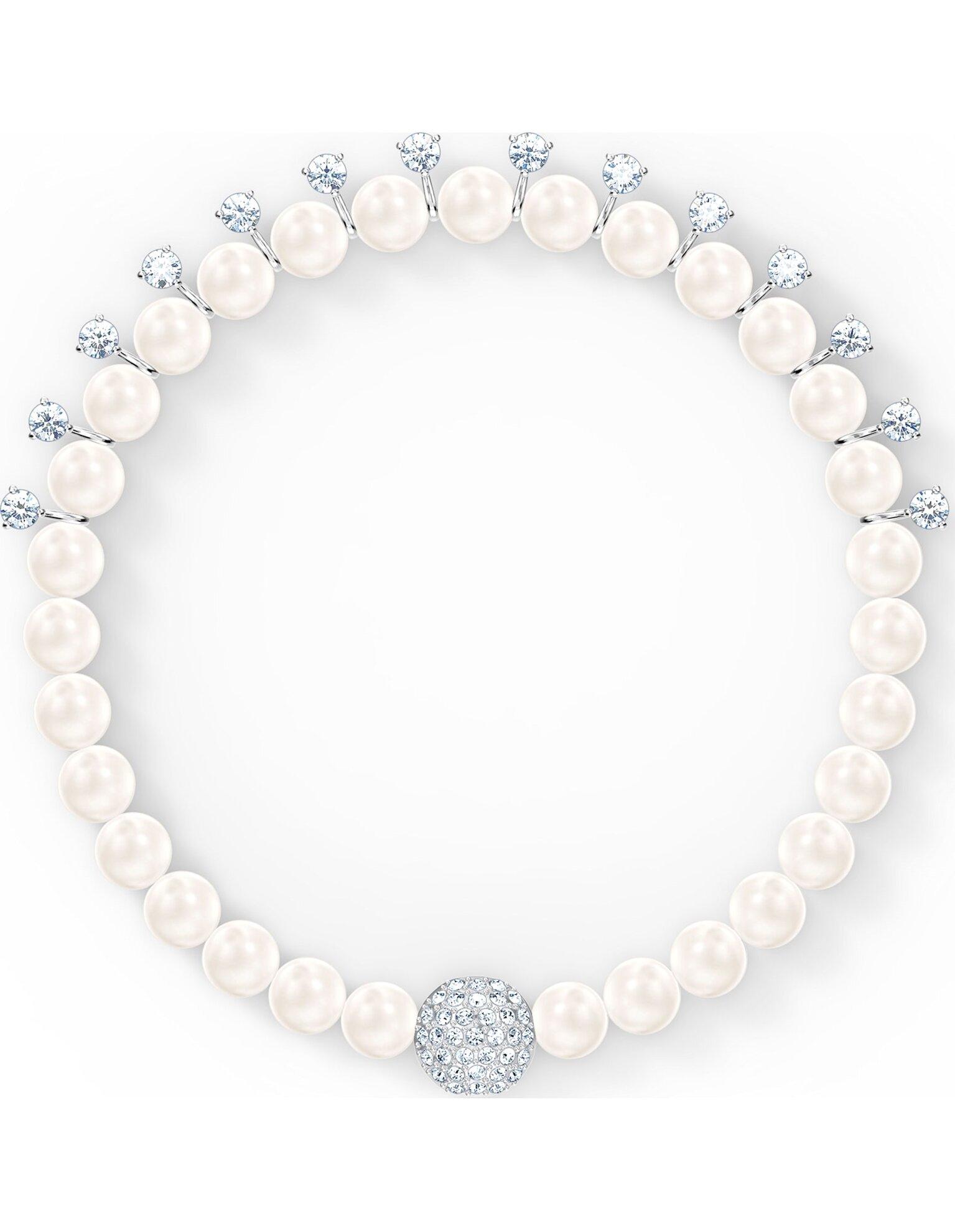 Picture of Treasure Pearl Bileklik, Beyaz, Rodyum kaplama
