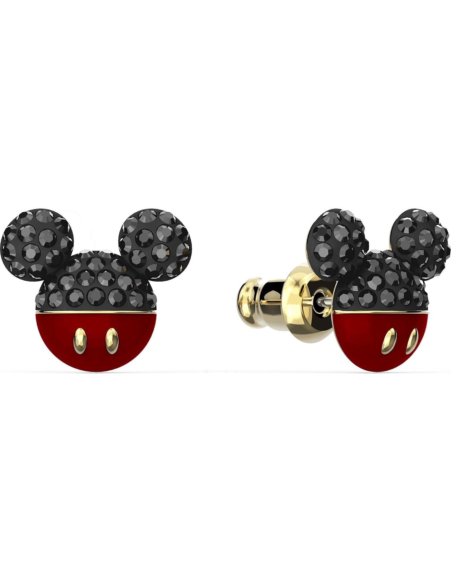 Picture of Mickey İğneli Küpeler, Siyah, Altın rengi kaplama