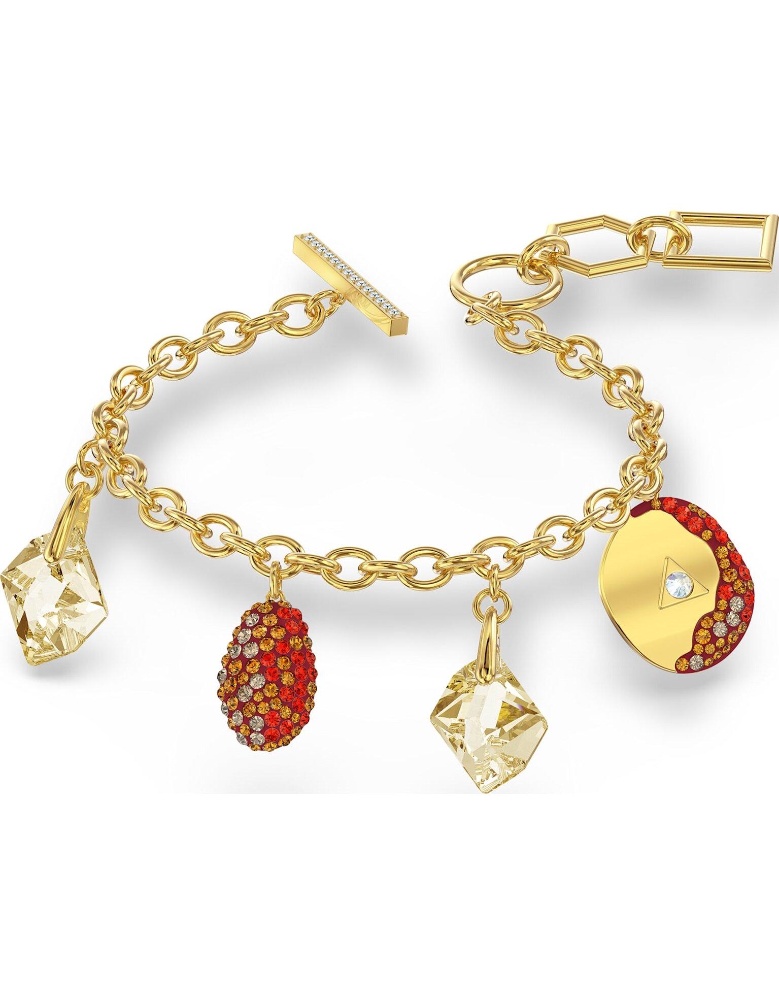 Picture of The Elements Bileklik, Kırmızı, Altın rengi kaplama