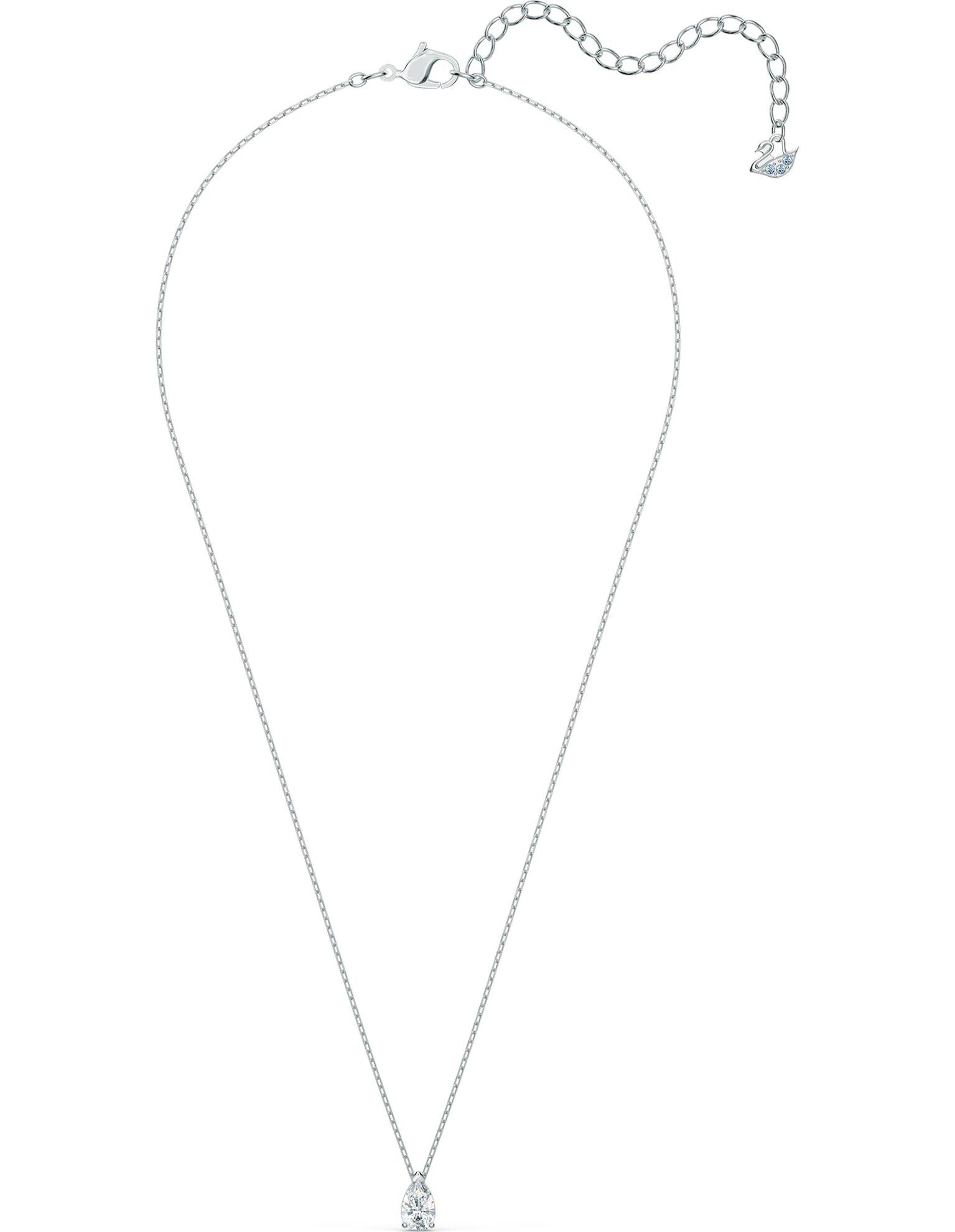 Picture of Attract Pear Set, Beyaz, Rodyum kaplama
