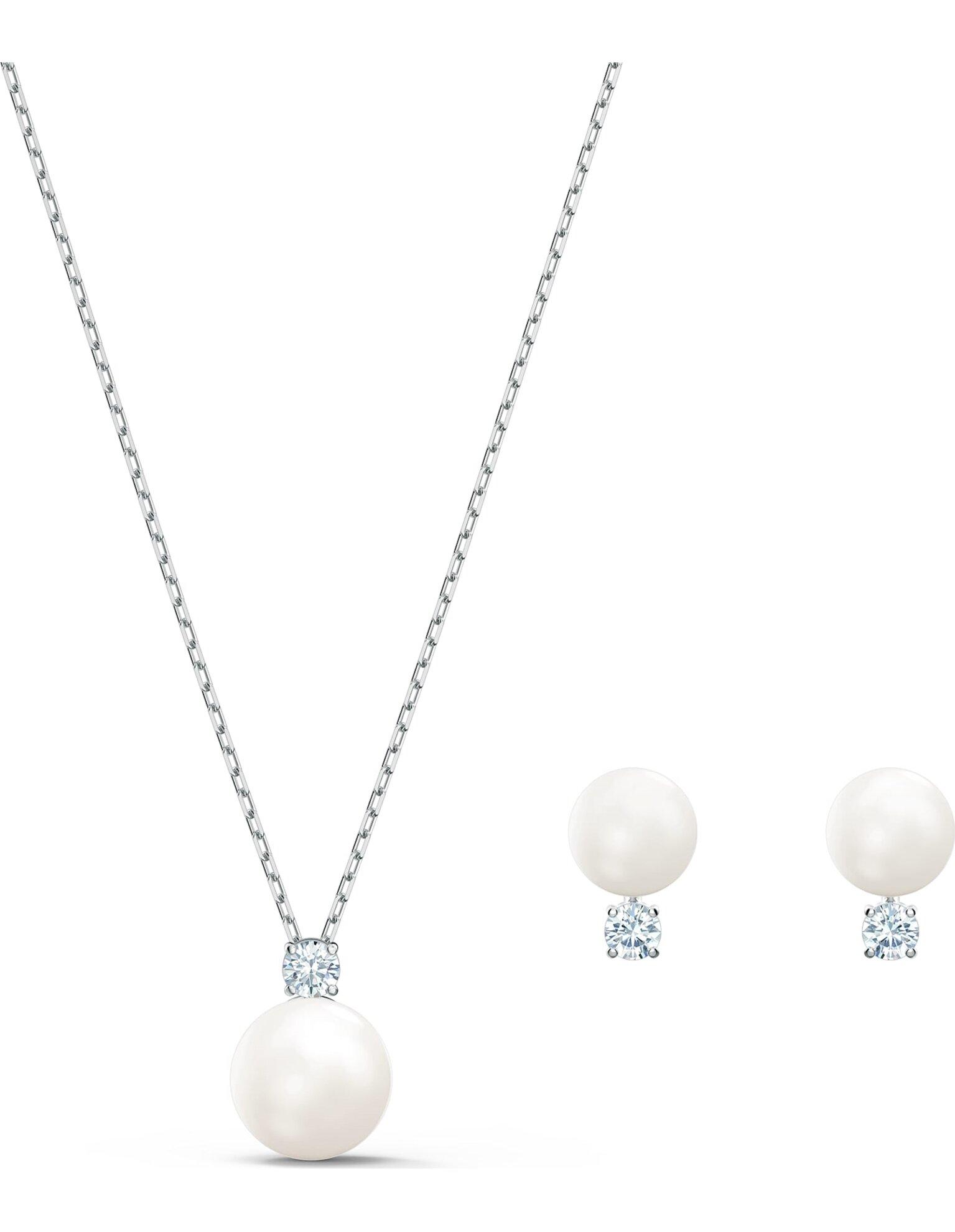 Picture of Treasure Pearl Set, Beyaz, Rodyum kaplama