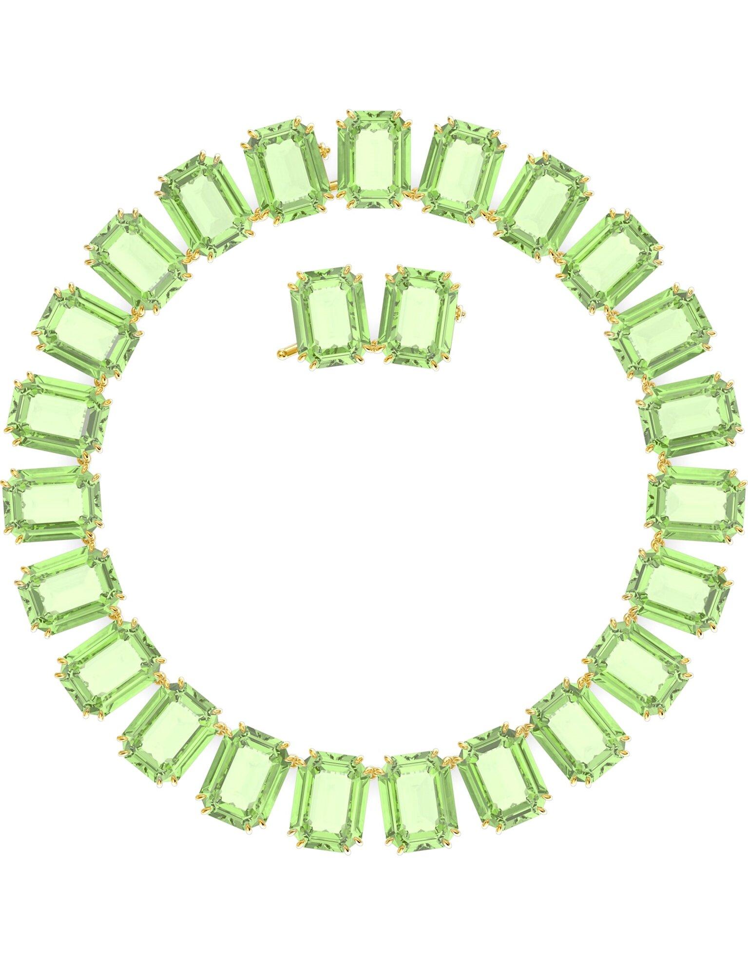 Picture of Millenia Kolye, Sekizgen kesim kristaller, Yeşil, Altın rengi kaplama