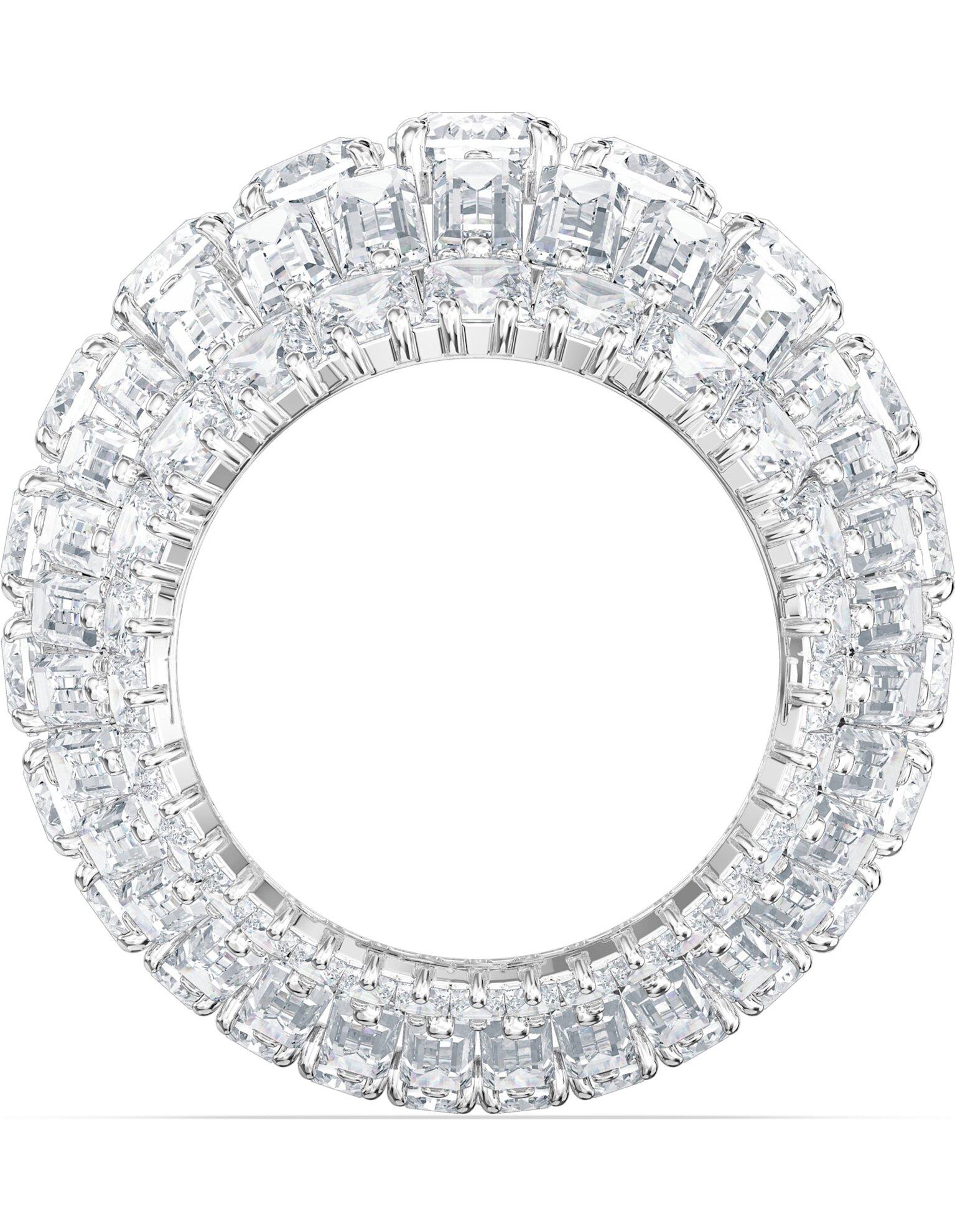 Picture of Hyperbola Kokteyl Yüzüğü, Büyük, Beyaz, Rodyum kaplama