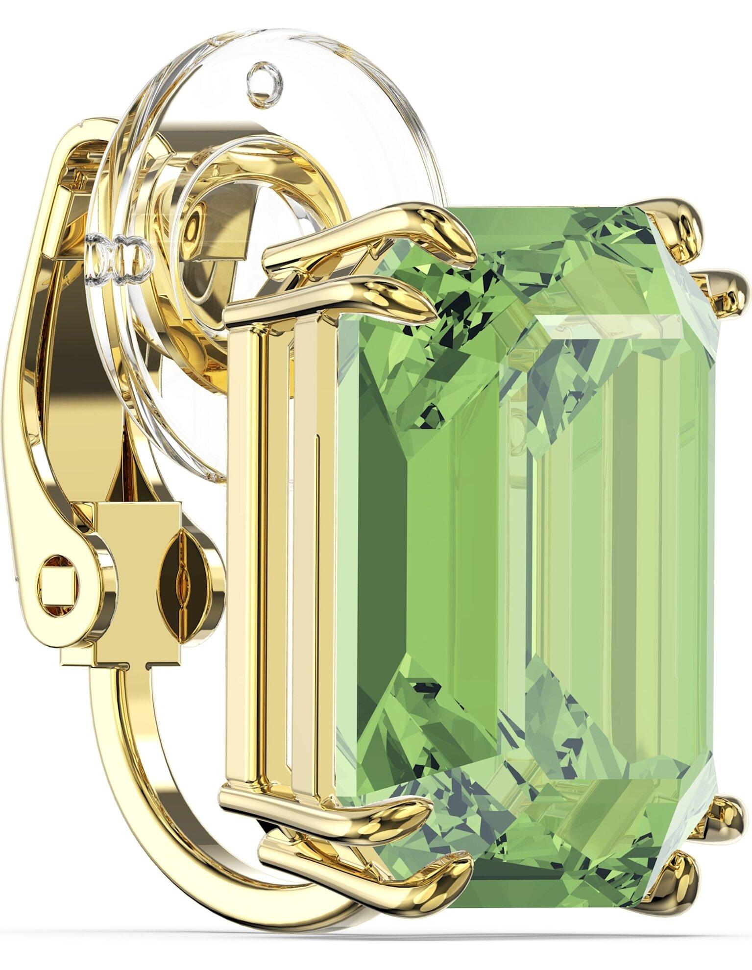 Picture of Millenia Klipsli Küpe, Tek, Yeşil, Altın rengi kaplama