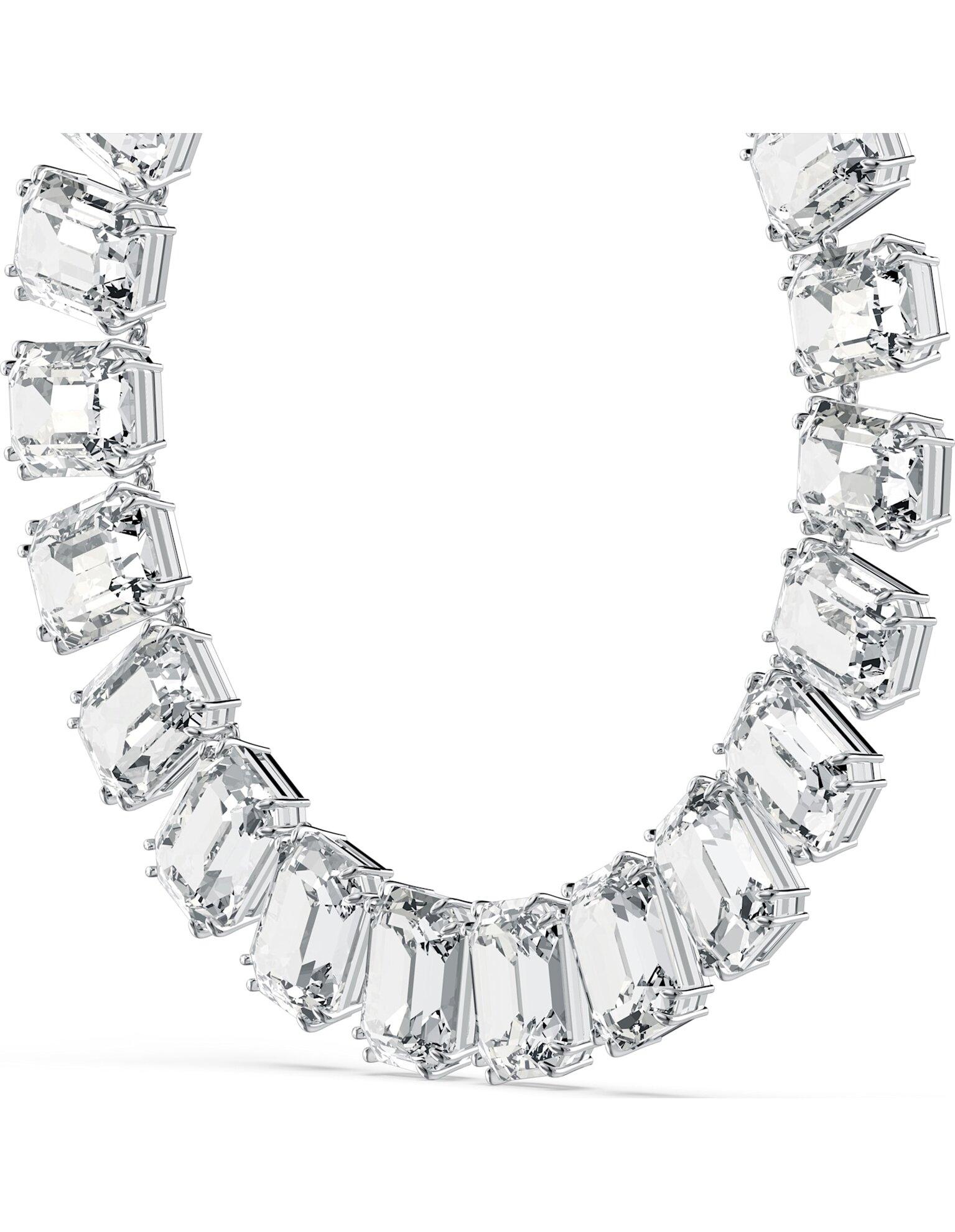 Picture of Millenia Kolye, Sekizgen kesim kristaller, Beyaz, Rodyum kaplama