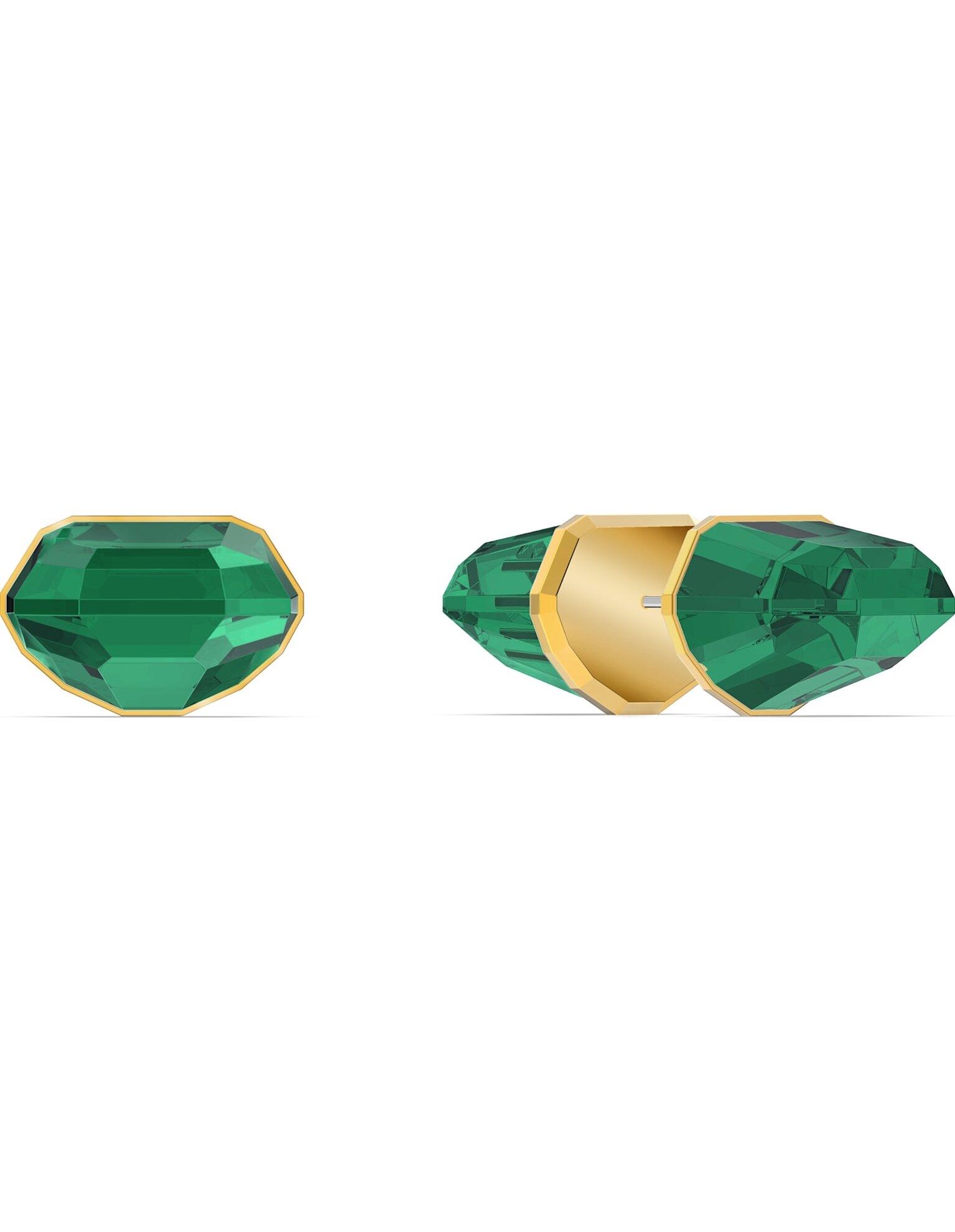 Picture of Lucent Çivi küpe, Tek, Yeşil, Altın rengi kaplama