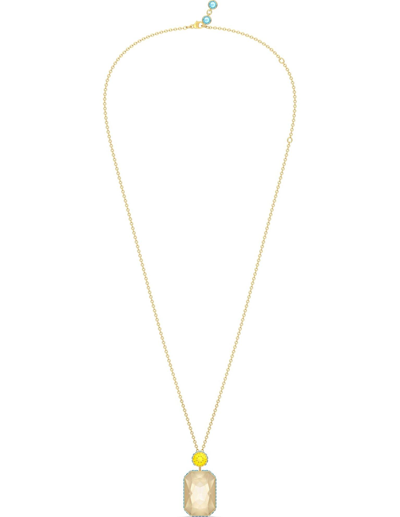Picture of Orbita Kolye, Sekizgen kesim kristal, Çok renkli, Altın rengi kaplama
