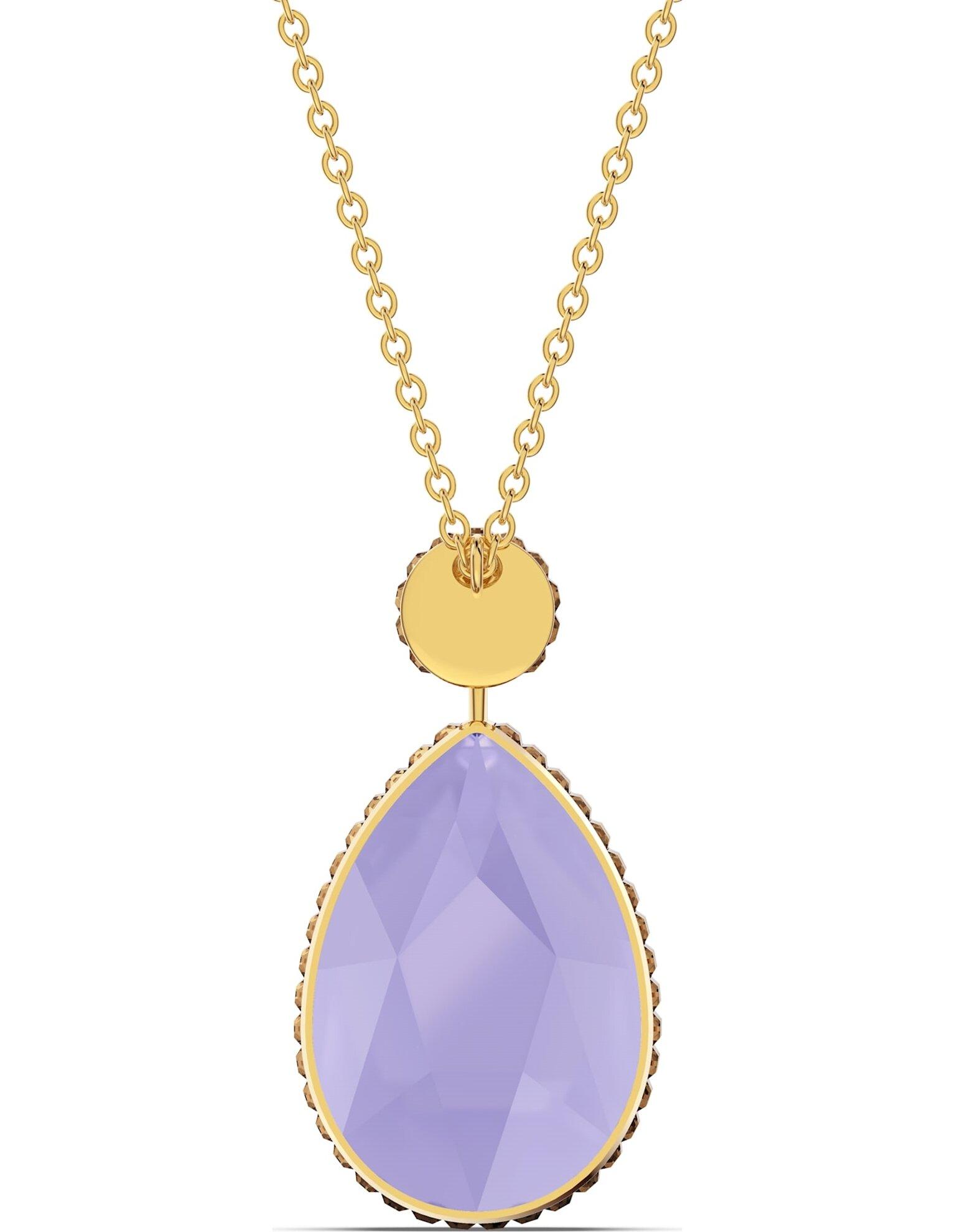 Picture of Orbita Kolye, Damla kesim kristal, Çok renkli, Altın rengi kaplama