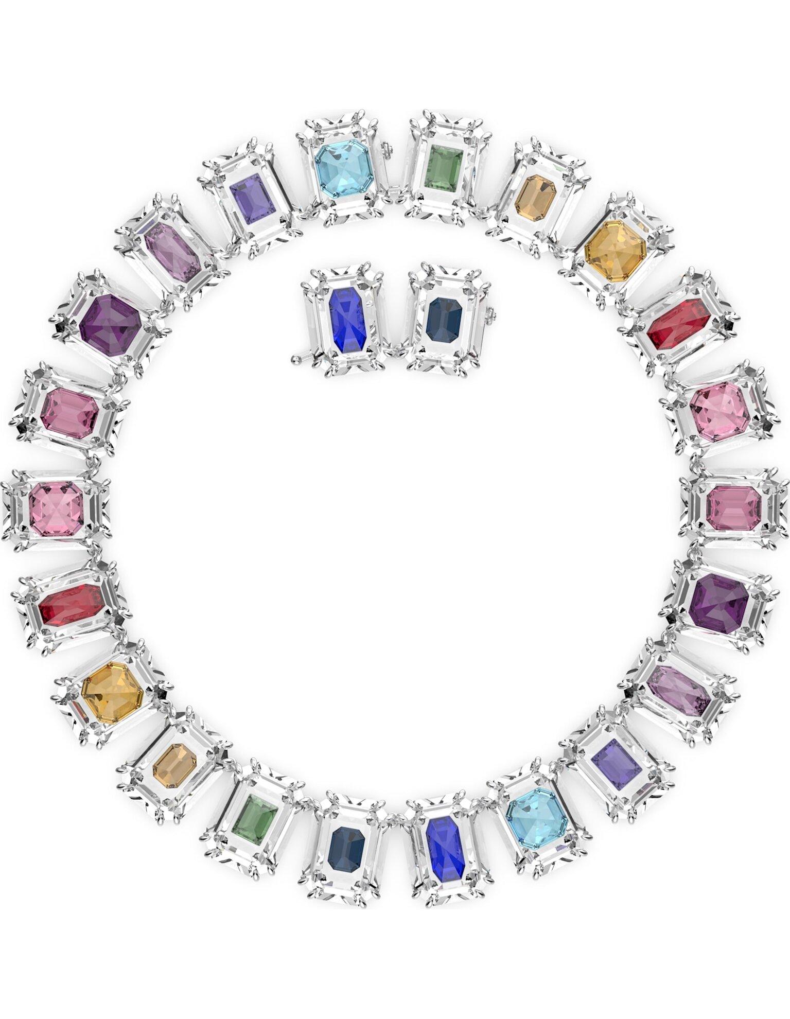 Picture of Chroma Gerdanlık, Büyük kristaller, Çok renkli, Rodyum kaplama