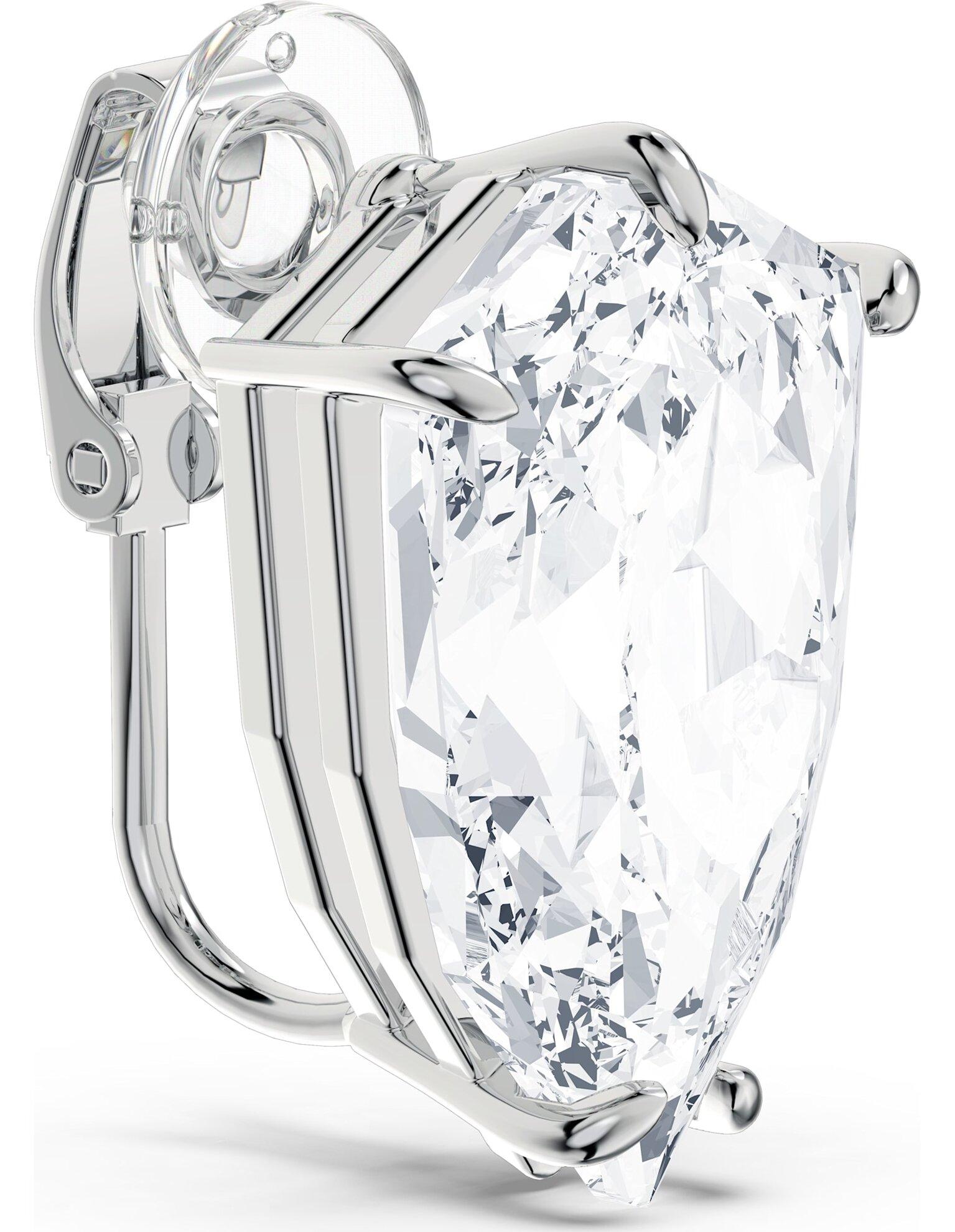 Picture of Mesmera Küpe, Trilliant kesim kristal, Beyaz, Rodyum kaplama