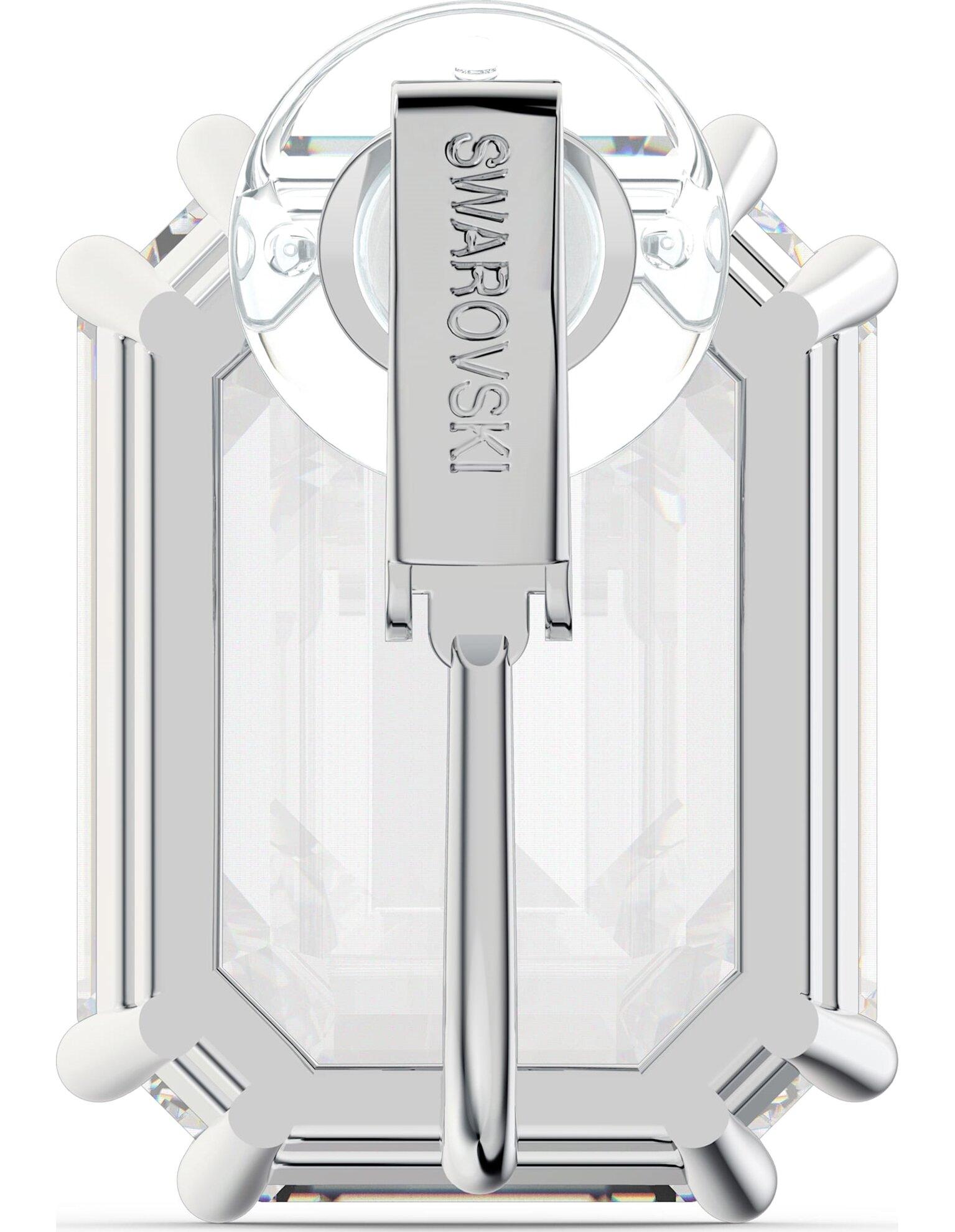 Picture of Mesmera Klipsli Küpe, Tek, Sekizgen kesim kristal, Beyaz, Rodyum kaplama