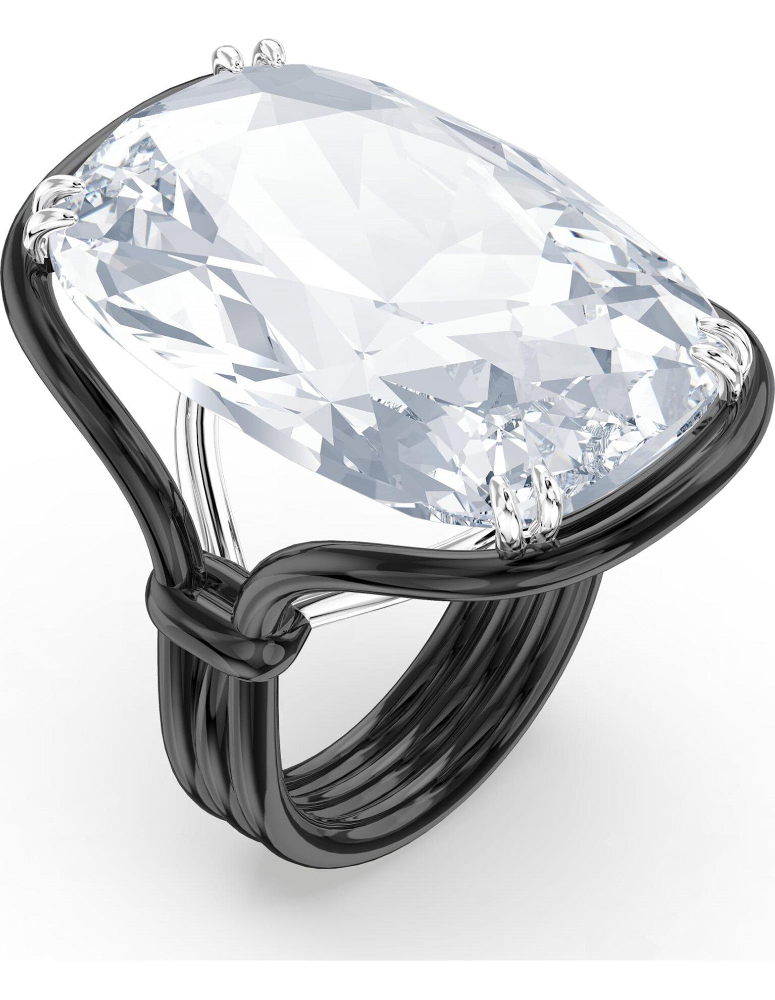 Picture of Harmonia Yüzük, Büyük hareketli kristal, Beyaz, Karışık metal bitiş