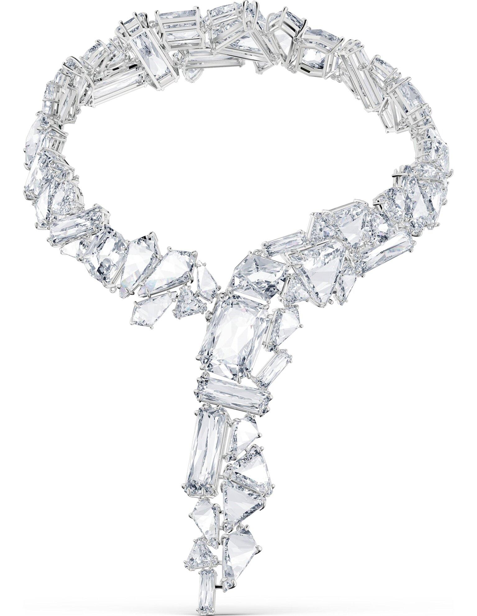 Picture of Mesmera Kolye, Büyük kristaller, Beyaz, Rodyum kaplama