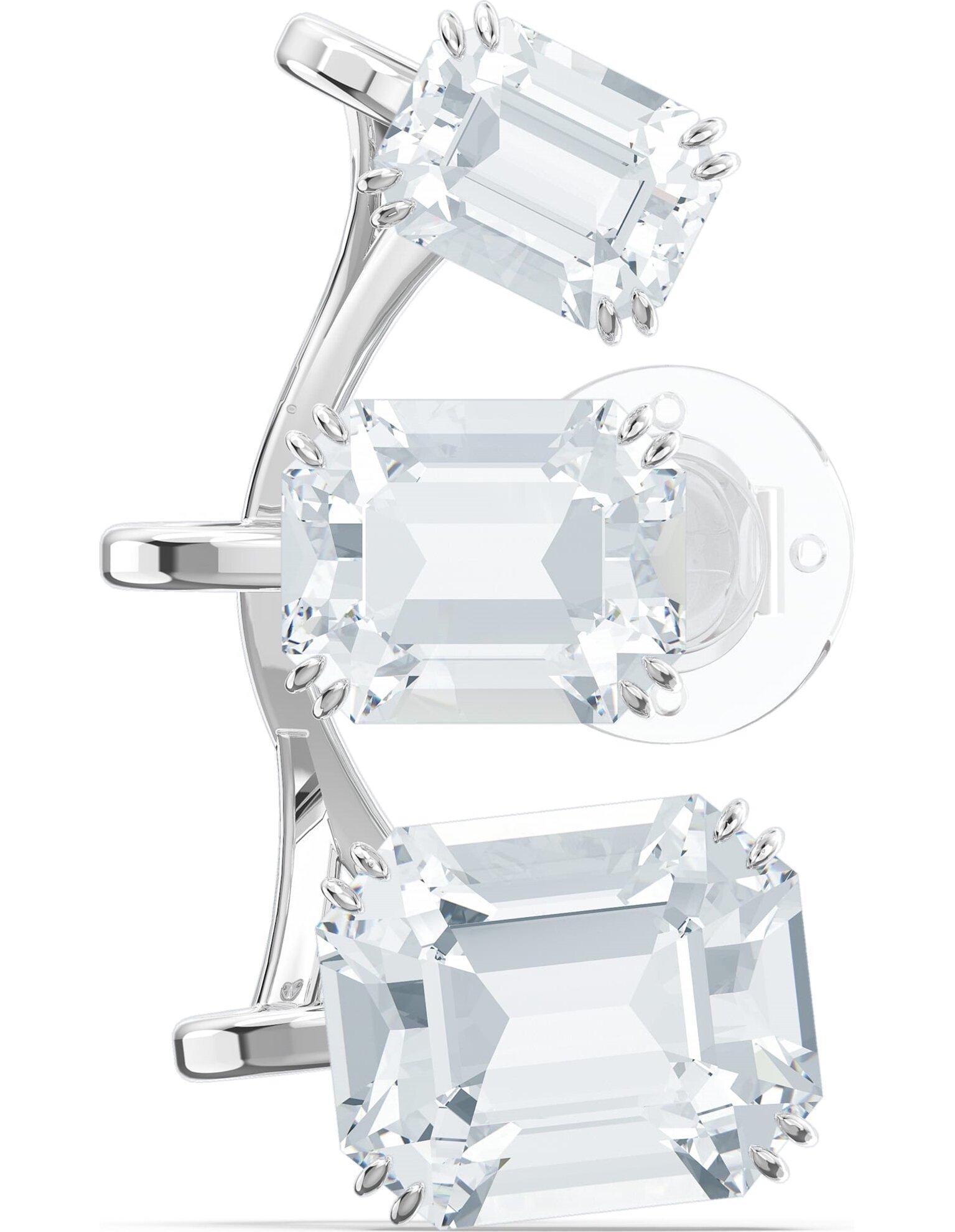 Picture of Millenia Kelepçe Küpe, Tek, Kademeli Kristaller, Beyaz, Rodyum kaplama