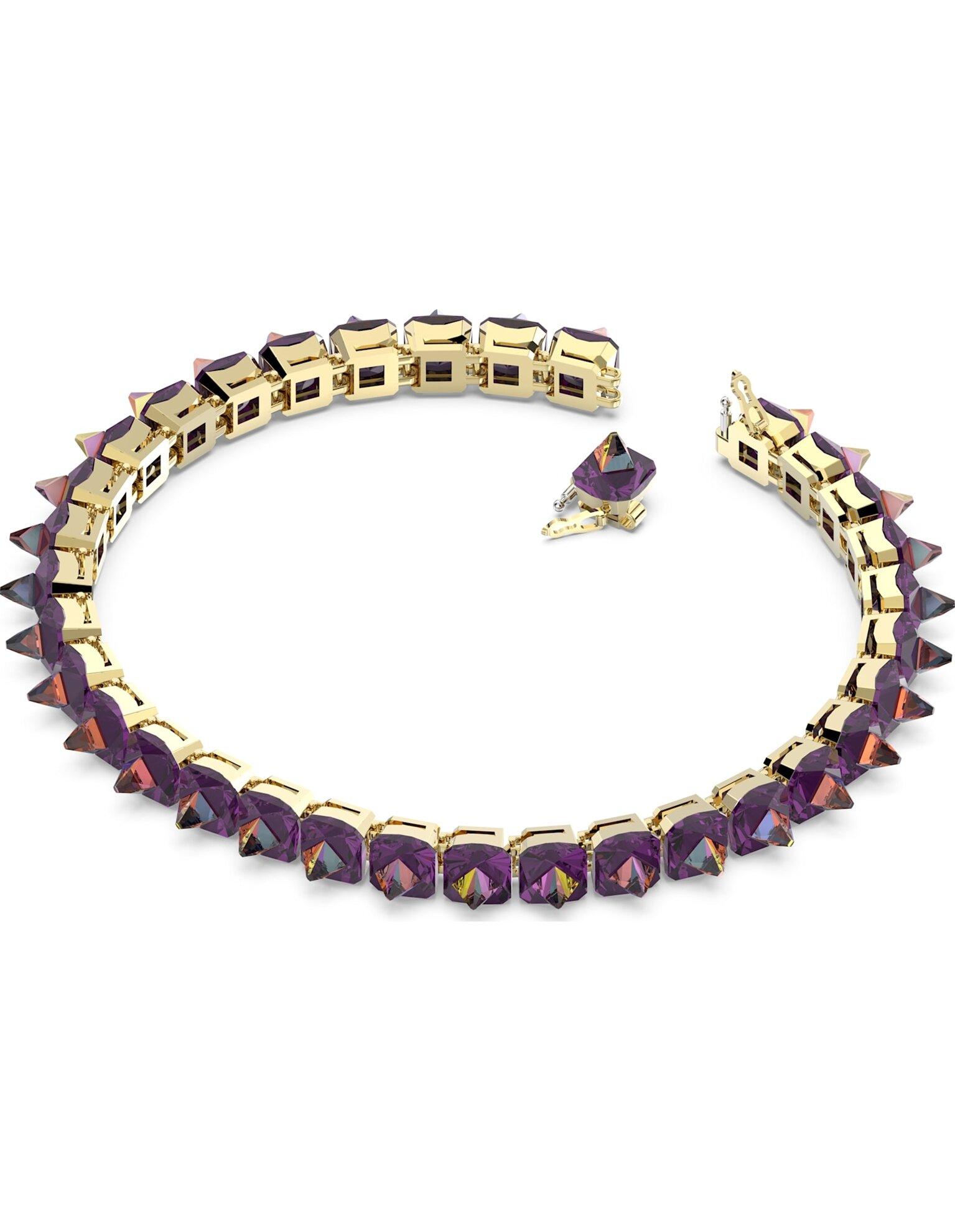 Picture of Chroma Gerdanlık, Sivri uç kristaller, Mor, Altın rengi kaplama