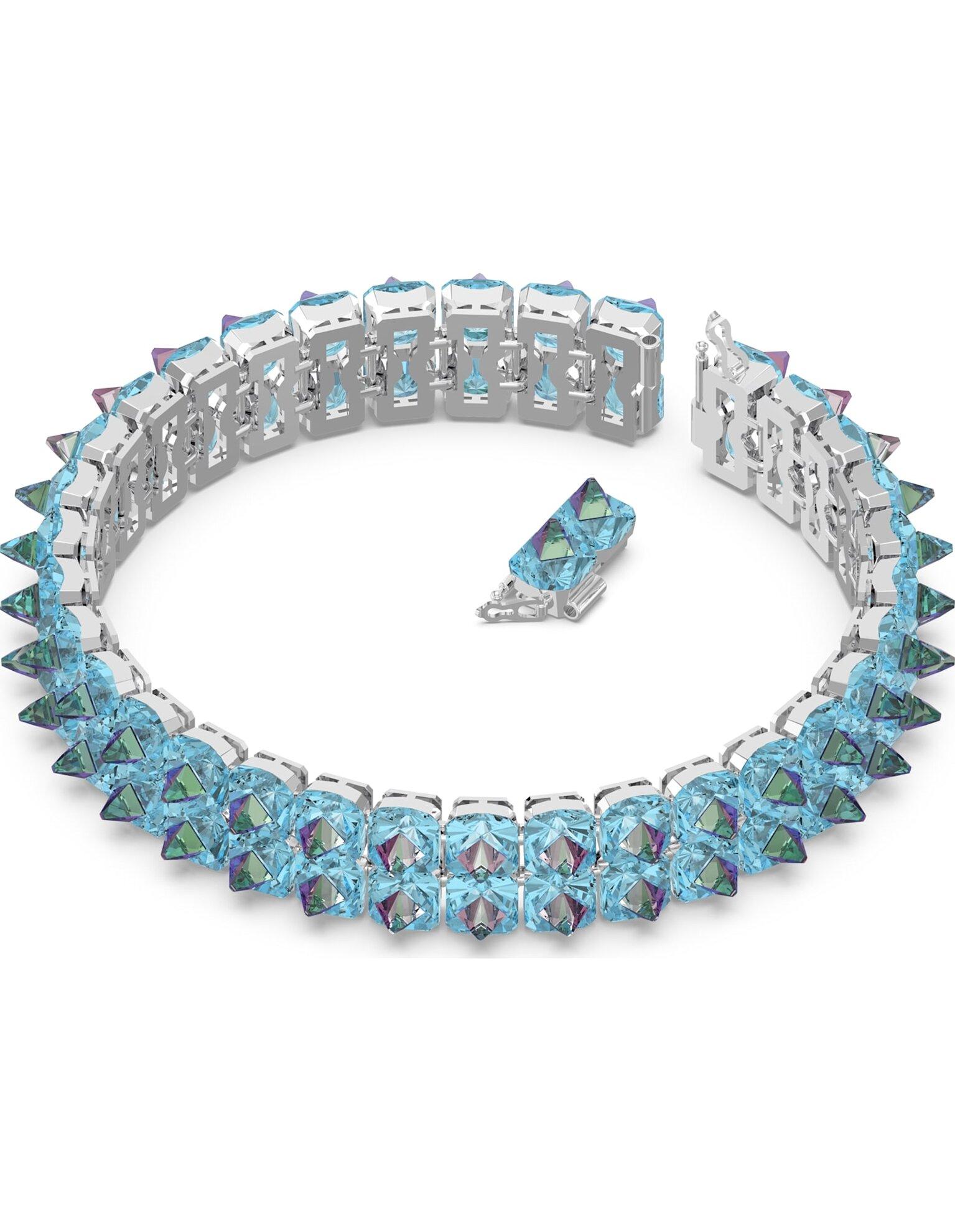 Picture of Chroma Gerdanlık, Sivri uç kristaller, Mavi, Rodyum kaplama