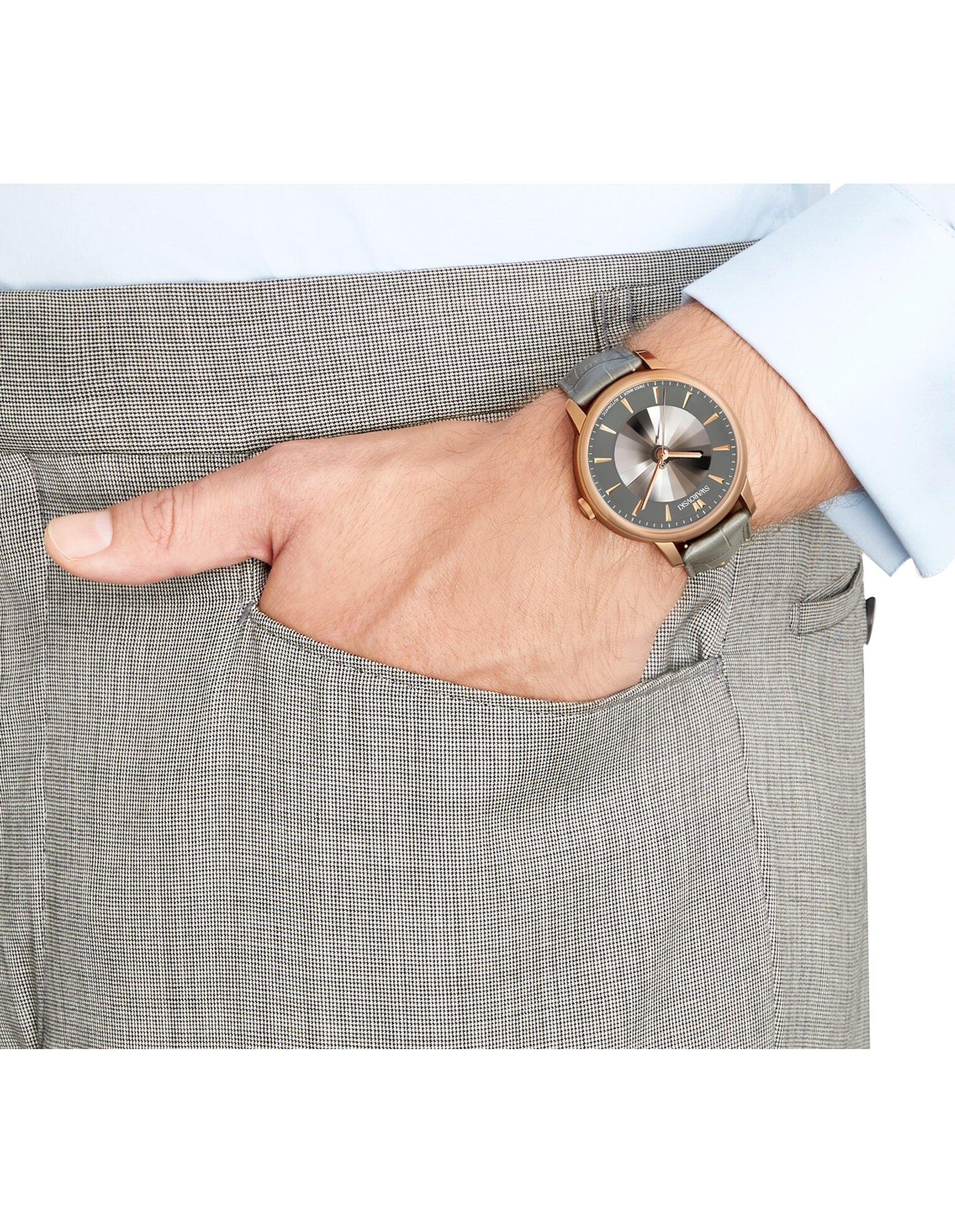 Picture of Atlantis Limited Edition Automatic Men's Saat, Gri, Pembe altın rengi PVD