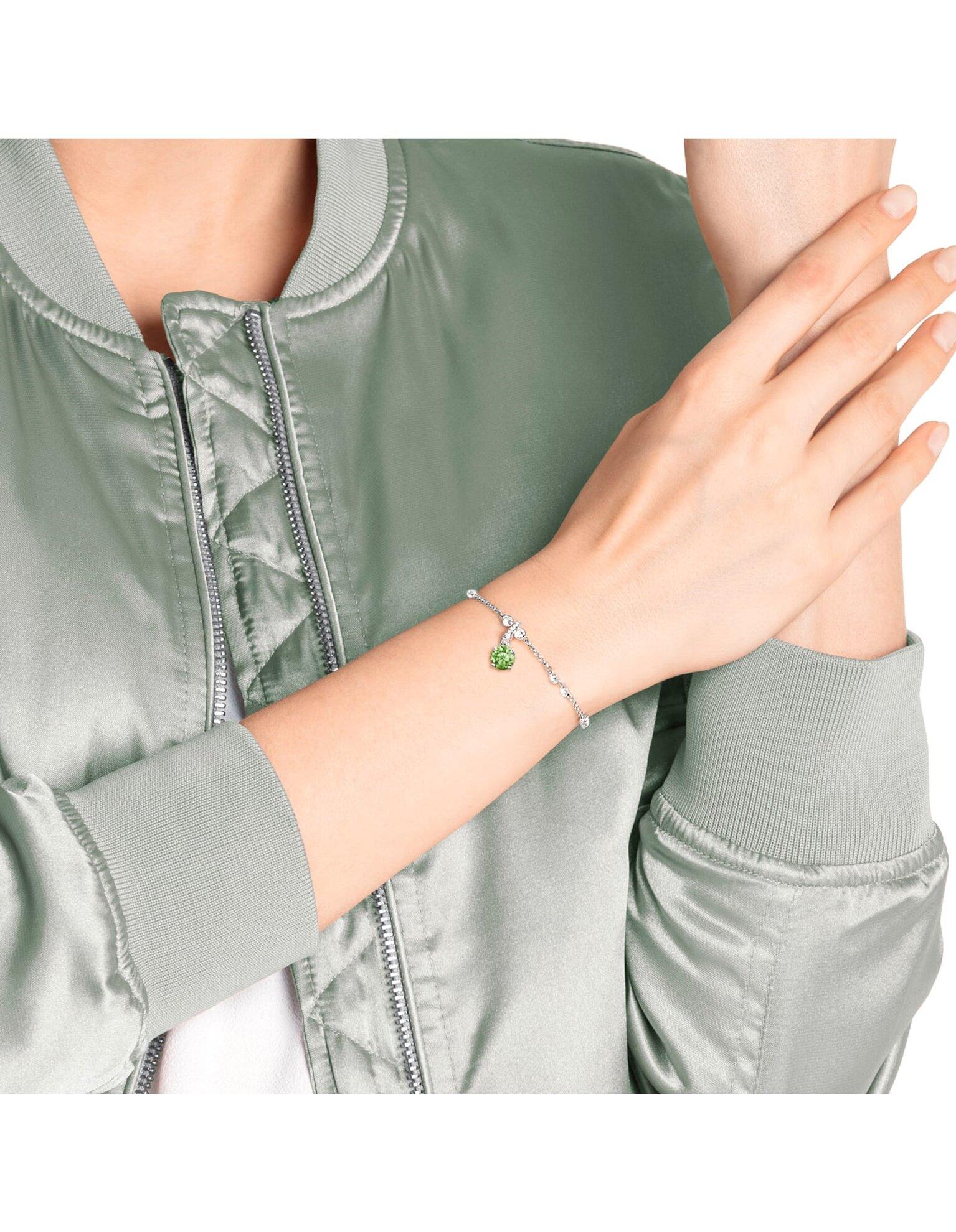 Picture of Swarovski Remix Collection Charm, Ağustos, Açık yeşil, Rodyum kaplama