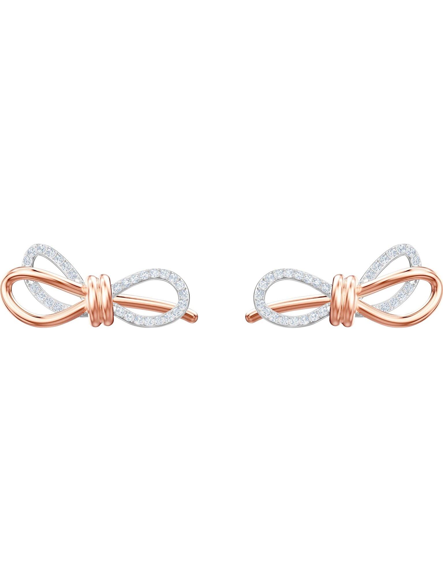 Picture of Lifelong Bow İğneli Küpeler, Beyaz, Karışık metal bitiş