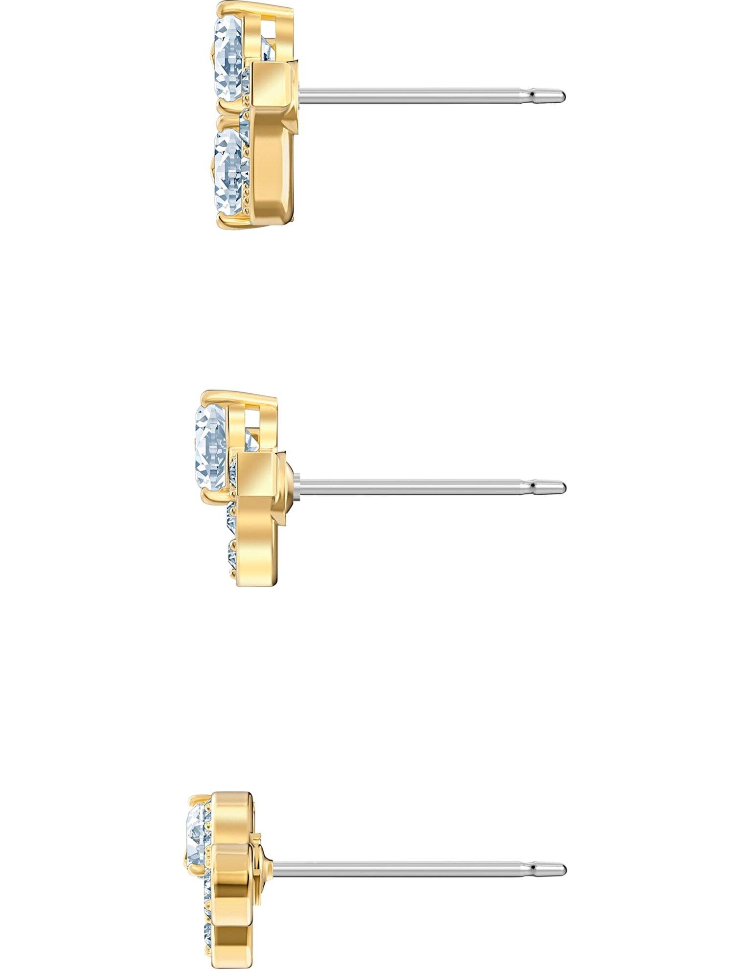 Picture of Pleasant İğneli Küpe seti, Beyaz, Altın rengi kaplama