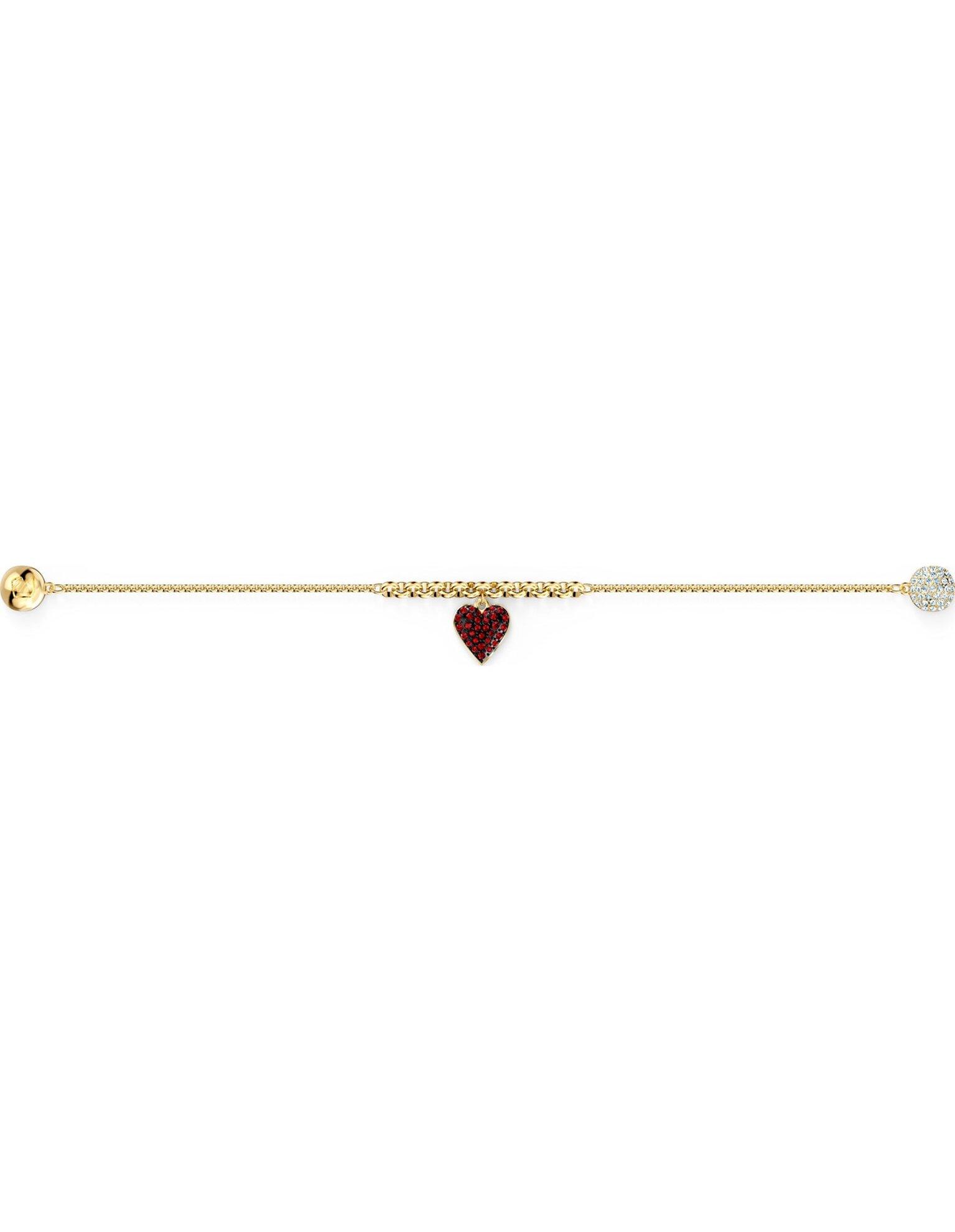Picture of Swarovski Remix Collection Heart Strand, Kırmızı, Altın rengi kaplama
