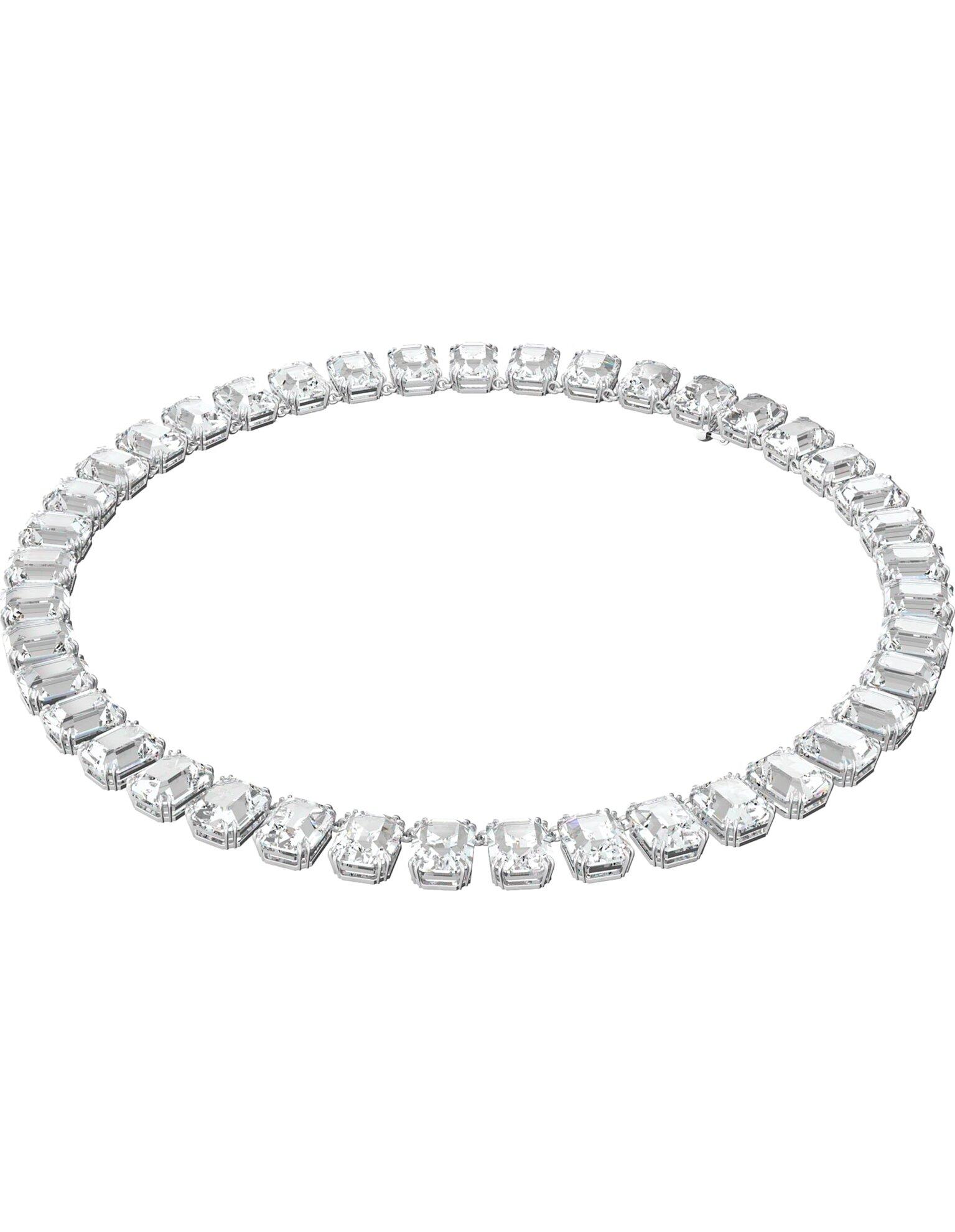 Picture of Millenia Kolye, Tam tur, Sekizgen kesimli kristaller, Beyaz, Rodyum kaplama