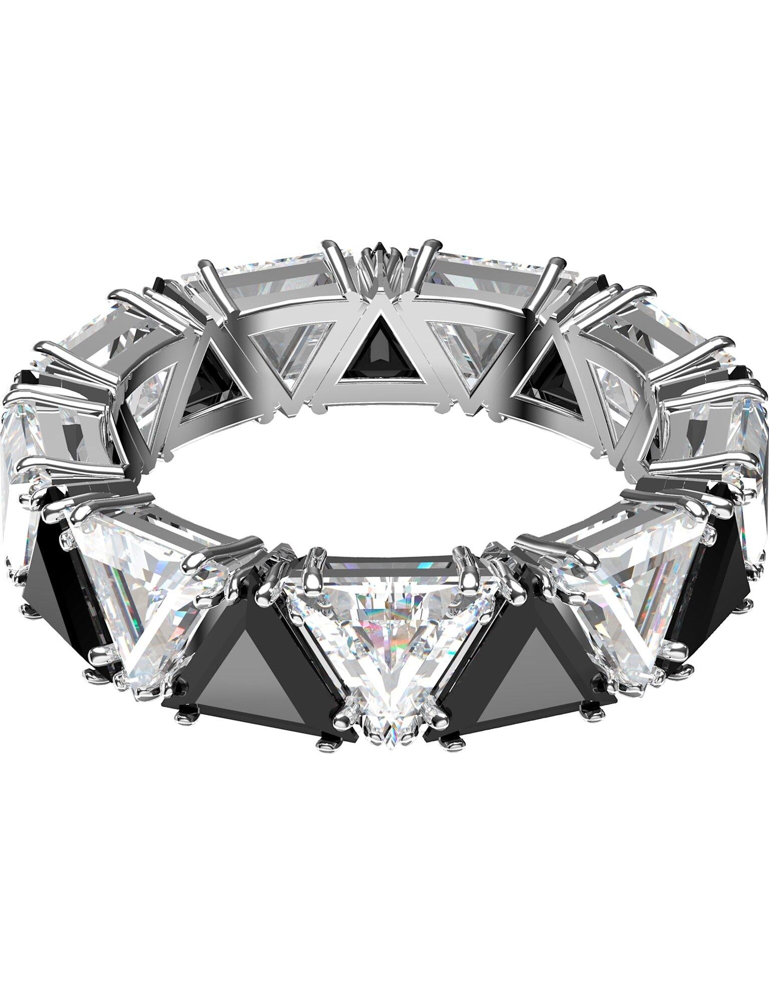 Picture of Millenia Kokteyl Yüzüğü, Üçgen kesim kristaller, Siyah, Rodyum kaplama