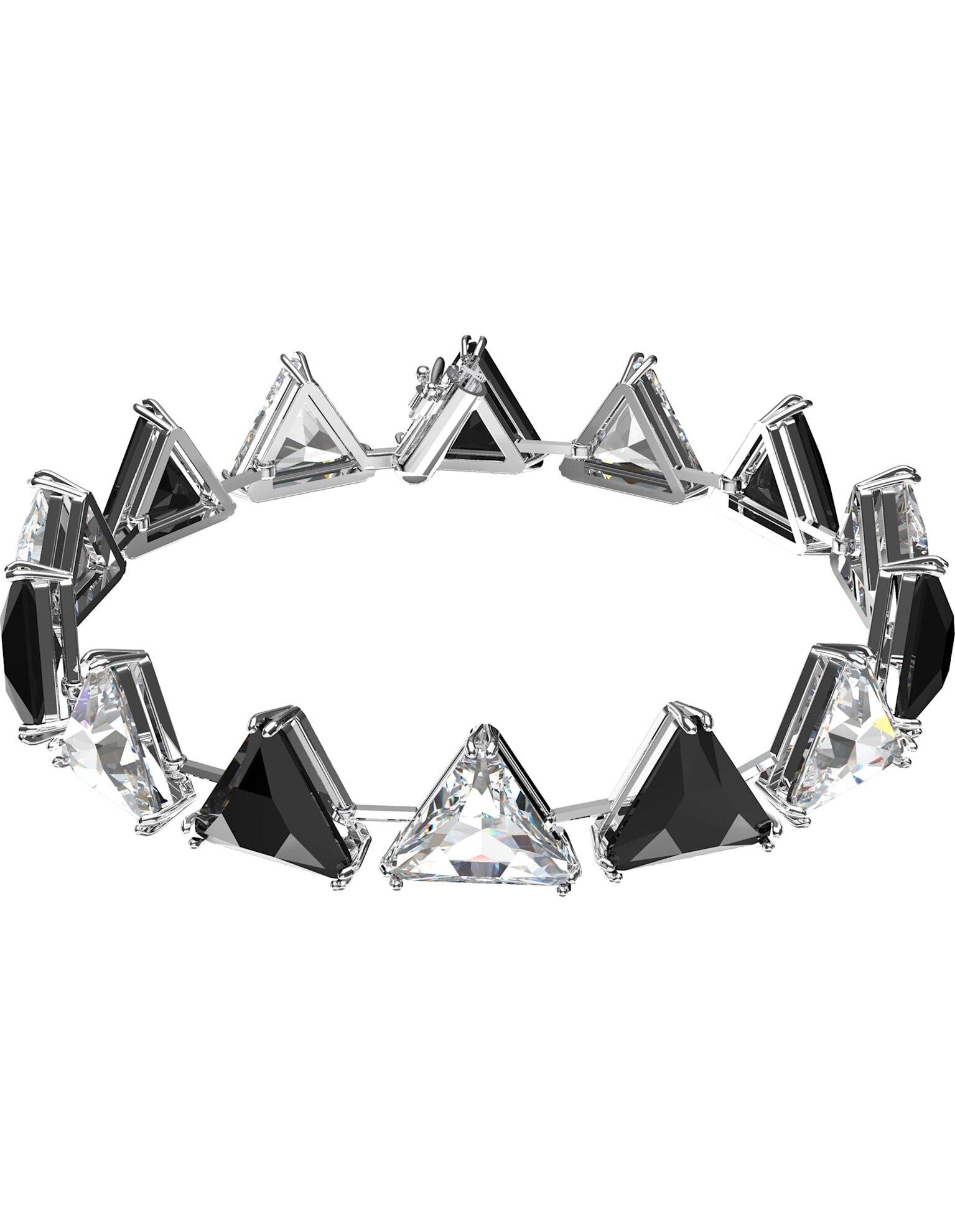 Picture of Millenia Bileklik, Üçgen kesim kristaller, Siyah, Rodyum kaplama