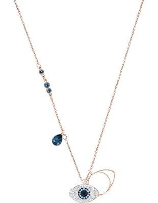 Picture of Swarovski Symbolic Evil Eye kolye, Mavi, Karışık metal